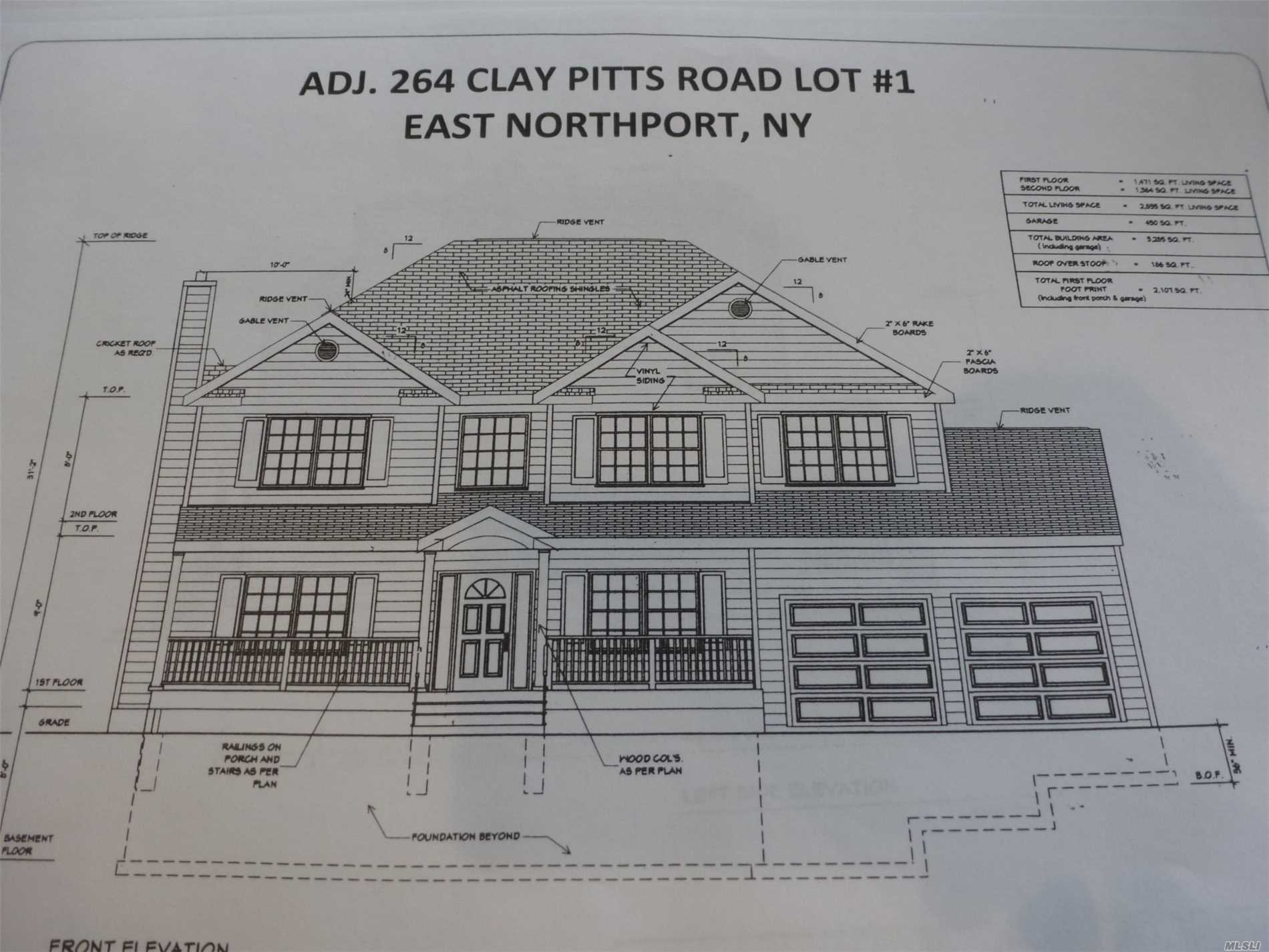 To Be Built. Will Be Ready Early Winter 2019. Custom 5 Br 3 Bath Home On .91 Acre. Crown Molding 1st Floor And Master Br. Custom Cabinetry And Granite Baths And Kitchen. Plenty Of Time For You To Make This Your Own/Customize With Your Desired Wish List! Set Back 275' From Clay Pitts. This Property Runs Alongside The East Side Of Wm. Byrne Park. Very Private Setting. Elwood Sd#1 Ge Appliance Package Hydronic Heat With Separate Boiler And Hw Heater