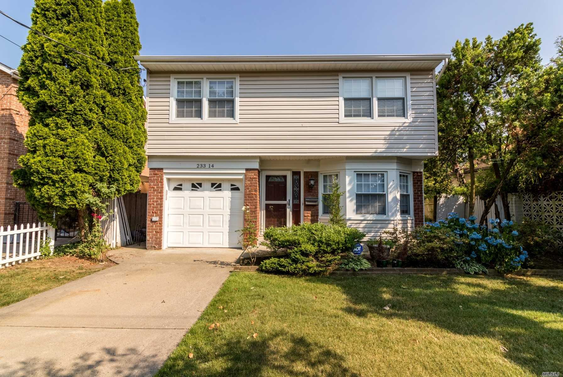 Prime Location! 5 Minute-Walk To Lirr Douglaston, Top-Ranked Ps98, Pre-School. 10-Min Walk To Northern Blvd. Quiet Tree-Lined Block With Ample Parking. Home Fully Renovated In 2015, All New Top-Line Appliances, Inc Bosch Dbl Oven, Convection Stove-Top, Dishwasher, French Door Fridge And Under-Counter Microwave. Split Ac In Each Room. Custom Walk-In Closet In Master Bedroom, Italian Marble Tiled Bathroom. Vaulted Ceiling Kitchen/Dining Room Leading To The Large Deck Perfect For Entertaining. Rare