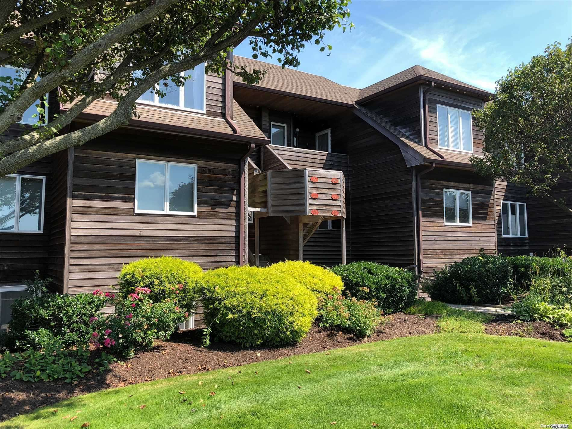 Carefree Condo Living! Spacious 2 Bedroom, 2 Bath Condo In Sound Front Community. Serene Views Of Long Island Sound. Sun Filled Living Room With Wood Burning Fireplace And Sliders That Open To A Huge Deck. Resort Style Amenities Inc Pool, Pickleball, 3 Tennis Courts, Clubhouse, Workout Room, & Beach Access, Adjacent To World Class Golf. Convenient To Shops, Dining, & The Best Of The North Fork Wine Country! 90 Min Nyc!