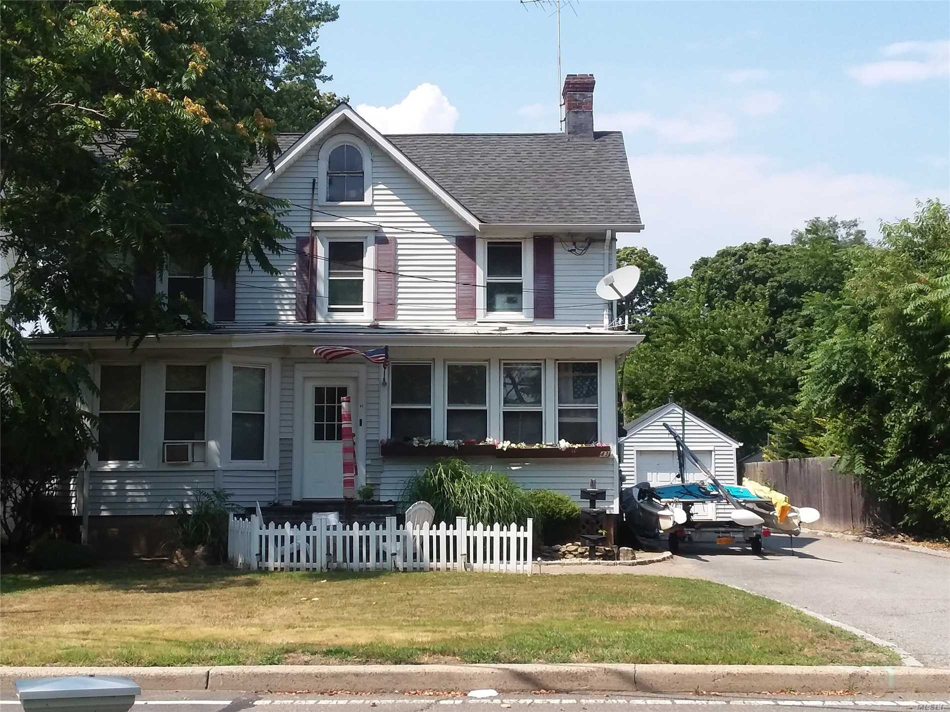 Large Legal 2 Family Colonial By Co In The Heart Of Babylon Village. Rare Opportunity! New Owners Must Reapply For 3rd Rental Unit Permit - Must See! Very Close To Lirr, Shops, And Restaurants.