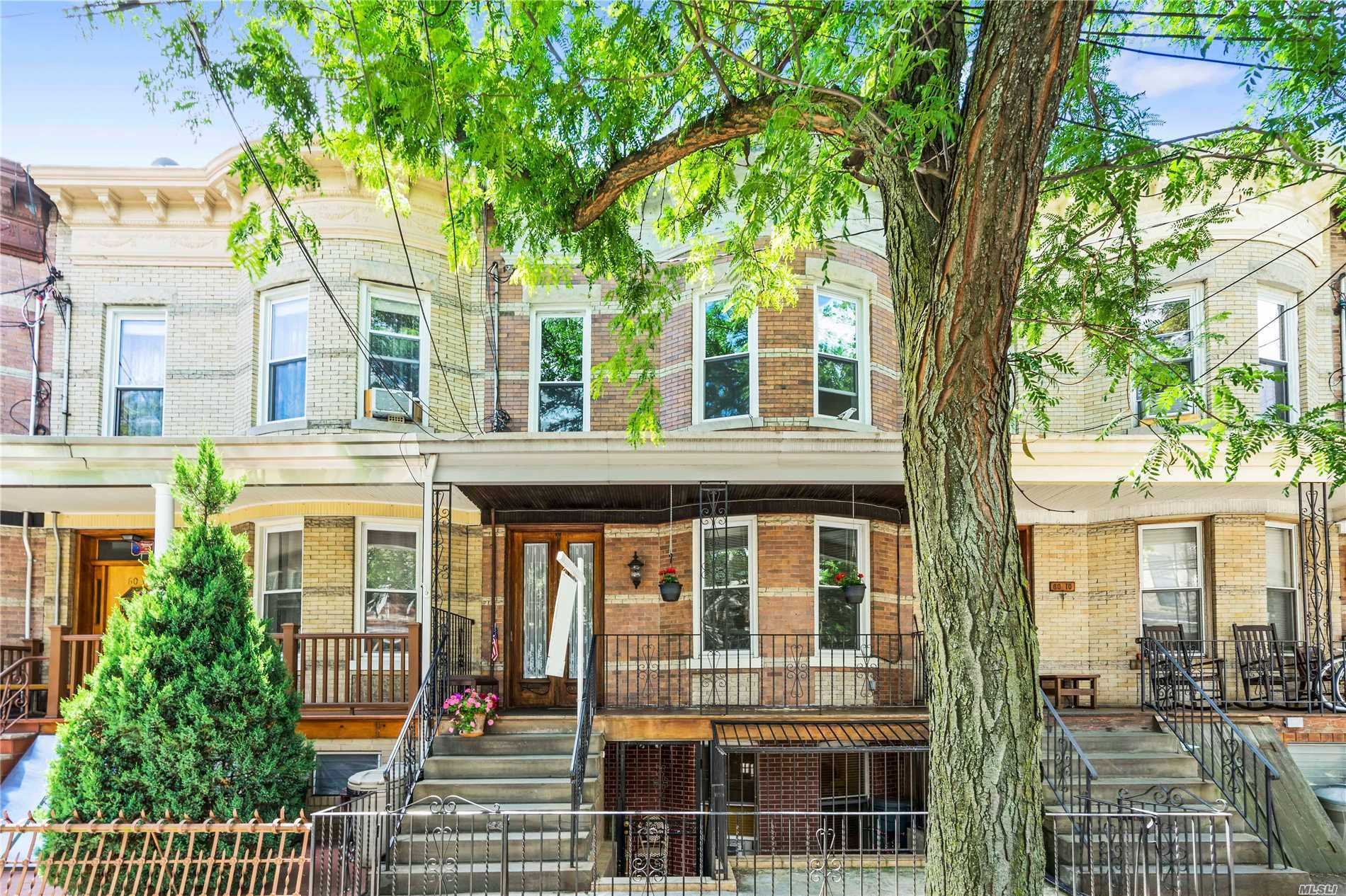 Beautiful 3-Family Brick Located Walking Distance To L Or M Train. Entire House Has Been Completely Renovated New Plumbing, Electric, Insulation And 3 Separate Heating Zones, . Finished Basement With Outside Entrance Where Is Legal Third Two Bedroom Apartment. Move -In Ready