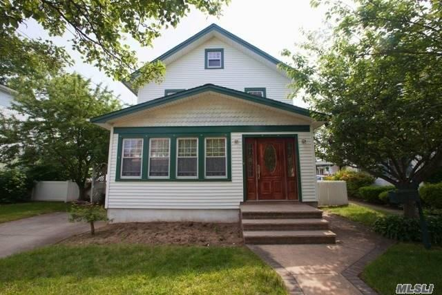 4Br, 1.5 Ba Colonial In Lynbrook Sd 20. Front Entry Room, Lr, Fdr, Office, Full Unfinished Basement With W/D, Walk Up Attic W/Potential For Living Space. Close To Rr, Shop, Parks, Trans. Wood Floors, Radiant Heat Eik/.5 Ba. Taxes Were Successfully Grieved, Will Be Lowered.