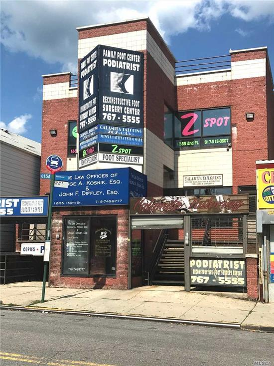 Great Investment Property Or For A User. 3 Level, 4450 Sq Ft Elevator Building, 100% Occupied, In Busy Part Of Whitestone Village Off 14 Ave. Parking Lot Around Corner. Long Term Tenants.  Great Condition With 2 Year Old Central Ac, And Good Roof. Currently 5 Tenant Occupied Spaces.  This Is Northern Queens Near Cross Island Parkway, Near Local And Express Bus To Nyc Local Bus To Main Street Flushing. Call For Showing, Please Do Not Disturb Tenants.