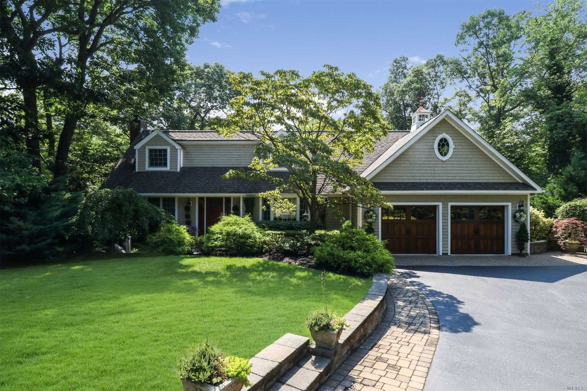 A Beautiful Getaway Right At Home! Stunning 5 Br, 3 Bth, Ctre Hall Colonial In Vanderbilt Section, Little Neck Peninsula. 0.5 Acre. Winter Water Views! Quiet Cul-De-Sac. All Updated In 2008 W/High End Upgrades. Gourmet Kit W/Granite/Ss Appl. Marble Baths. Lovely Mstr Suite W/Mahogany Balcony & Wic. Wood Floors. Custom Moldings. Emtek Hardware. Led Lighting. 200 Amps Elec Syst. Igs. Dream Backyard, Bi-Level Patios, Pavilion, Fab Waterfall, Hot Tub, Custom Shed. Prof Lndscaped. Near Centerport Beach.
