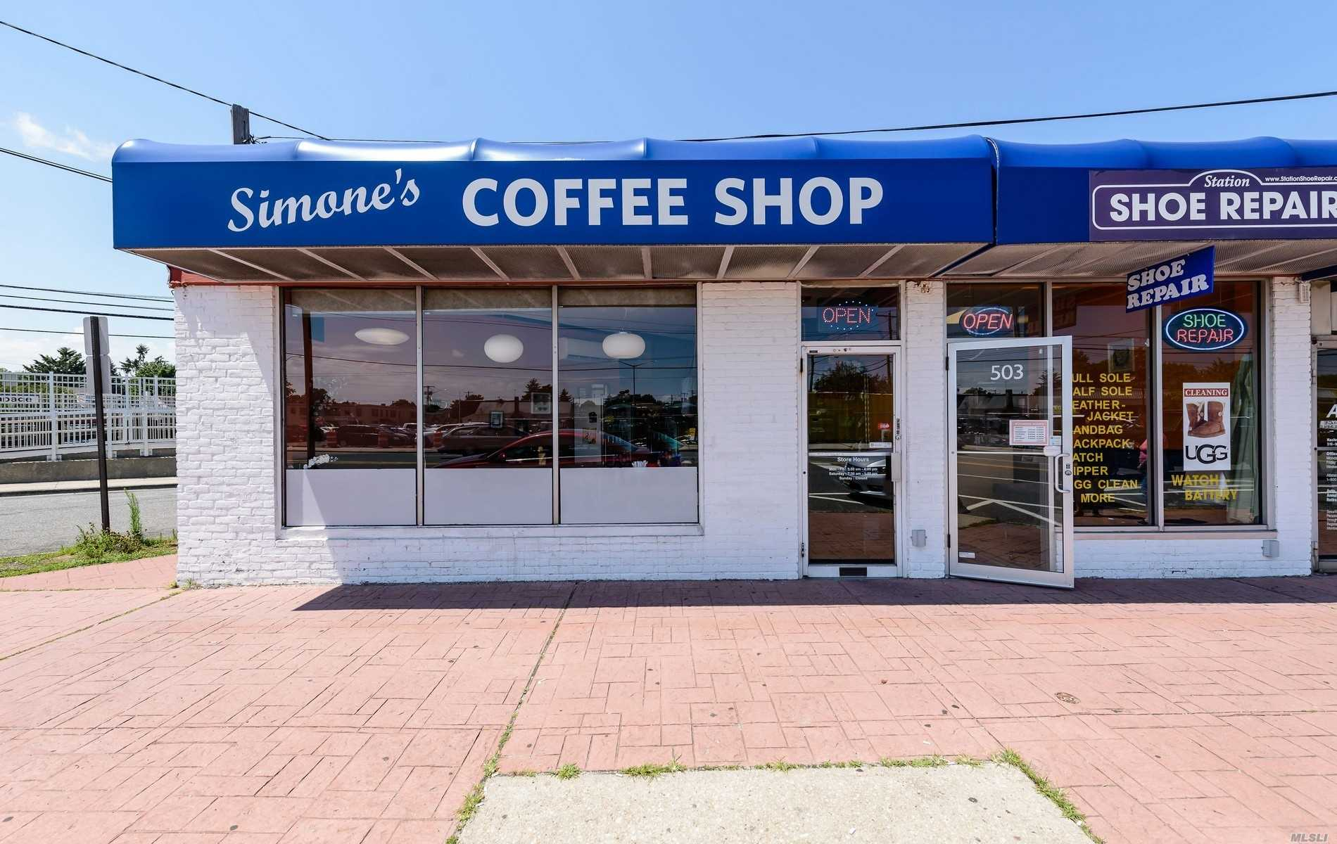 40 Year Well Established Coffee Shop Steps Away From The Lirr. Established Income With Great Growth Opportunity. Very High Traffic With Easy Access To Transportation. Parking In Rear. 5 Year Lease. 5 Additional Years Optional.