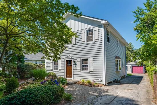 Charming 3-Bd, 2.5-Ba Colonial In A Centerport Beach Community! Upd Maple/Ss/Granite Eik W/Gas Cooking. Gleaming Wd Flrs. Fpl. Minisplit A/C. 1st Flr Office. 2nd Flr W/Cathedral Ceilings & Detail Mouldings. Spacious Mstr Bdrm W/Full Bth. Updts Incl Frig, Pella Windows, Siding, Roof, Cesspool, W/D, 150 Amp. Private, Fenced Yard W/Paver Patio & Beautiful Gardens. Finished Bsmt. Solar Panels. Beach & Mooring Rights + Community Clubhouse, Dock, Boat Ramp, Summer Camp & Year-Round Fun! Garage As-Is.