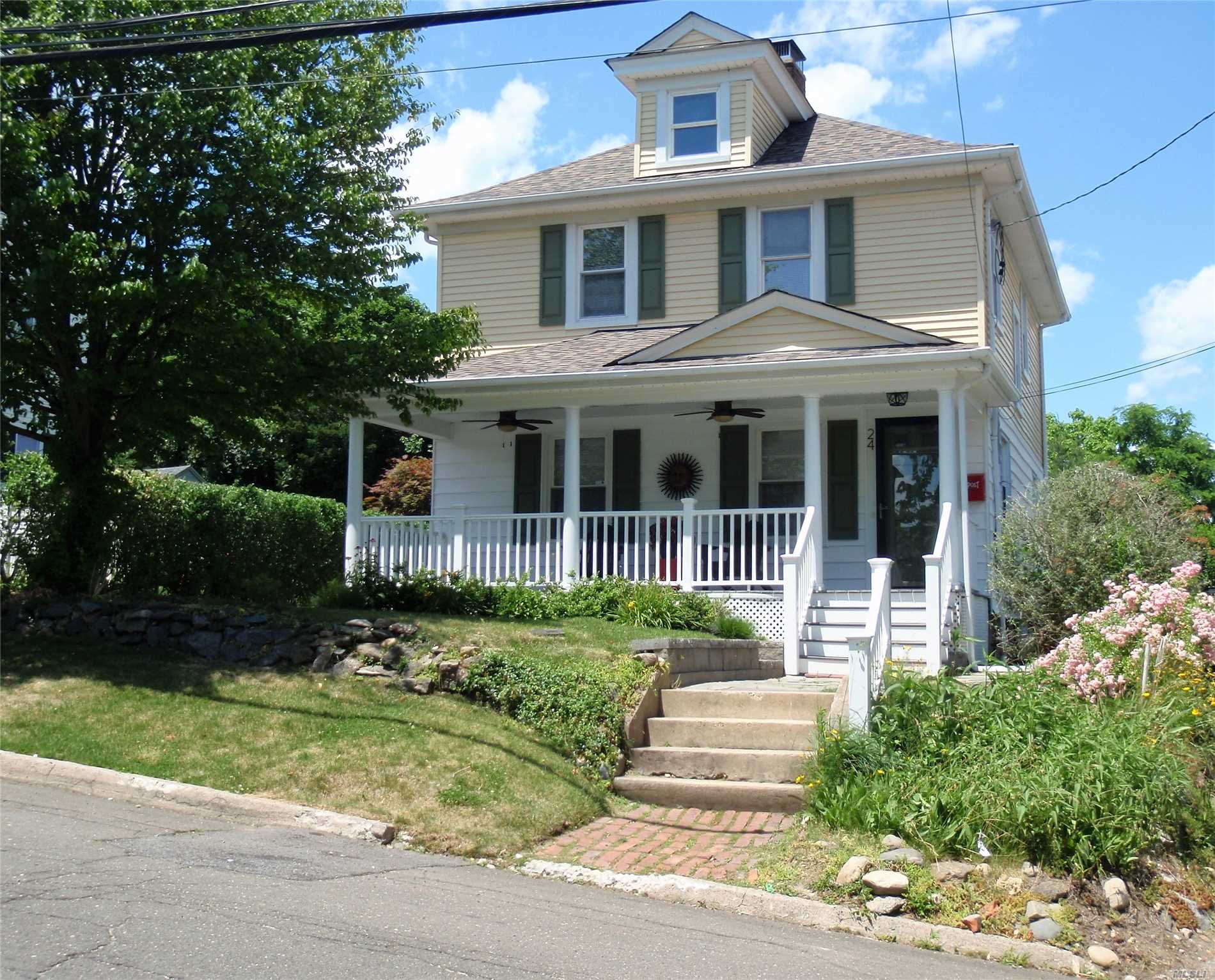 Gut Renovated In 2014 - All New Lovely Village Colonial- Cac, Gorgeous Kitchen, Fpl, 2.5 Baths,  Front Porch, Patio, Yard & Det. Garage. This Home Has The Charm Of Days Gone By & The Modern Luxuries Needed For Today's Living.