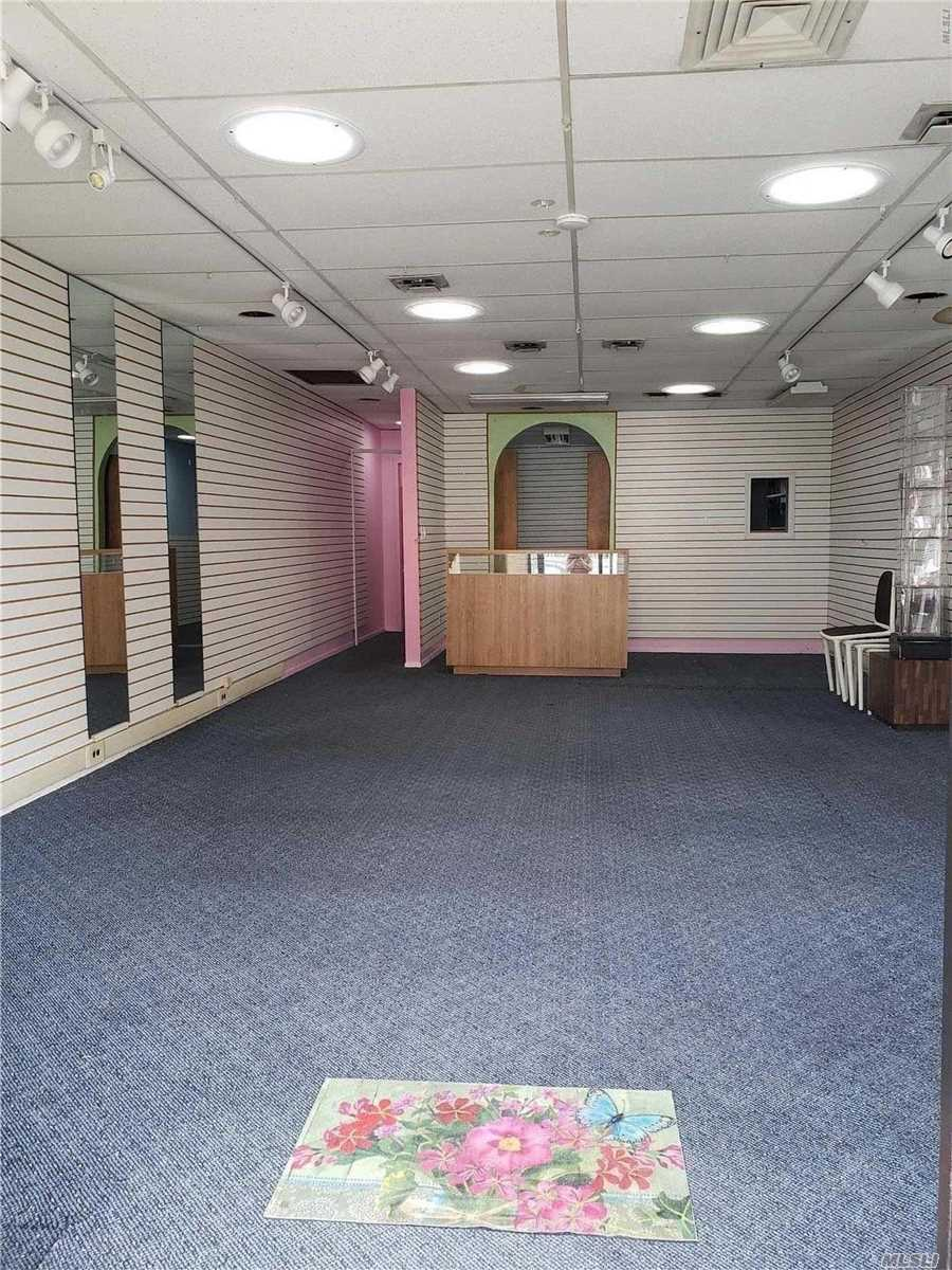 Well Maintained Storefront With Solar Lighting. Busy Avenue And Walking Distance To The Lirr/Public Transportation. Lots Of Natural Sunlight And Affordable Rent.