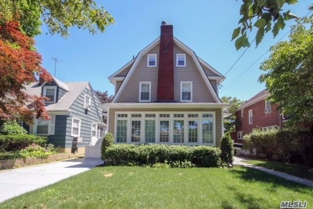 This Fabulous 4 Brs, 3 1/2 Bas Dutch Colonial Located In The Heart Of Bayside Only Blocks To Lirr & W/30 Mins To Nyc! House Completely Renovated, Gorgeous Lr W/Fp And Cozy Bright Sunroom, Hwf And New Windows Throughout. Modern Large Kit W/High End Appls & Large Dr. 2nd Fl Boasts Master Suite & 2 Brs & Ba. Oversized Br On 3rd Fl W/Lots Of Open Space & Storage. Fin Bsmt W/Full Ba And Sperate Entrance!Upgraded Electrical Panel W/New Wiring & New 3 Zoned Gas Heating. Prestigious Sd#26. Move Right In
