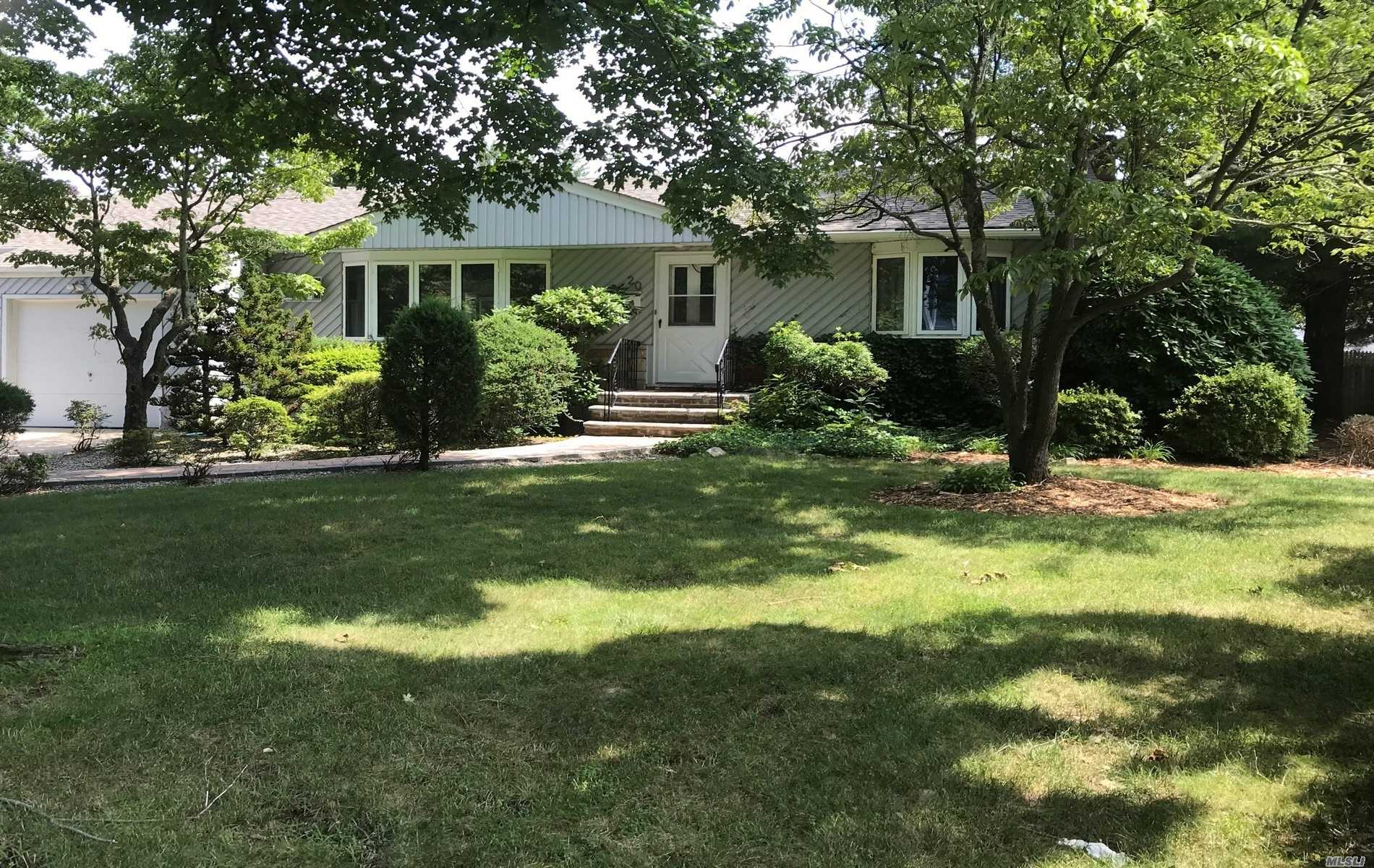 Located In The North Syosset Flower Section, This 3 Bedroom, 2 Bath Expanded Ranch Is Ready For Occupancy. Home Features Main Level With Gleaming Hardwood Floors,  Family Room With Brick Wall Fireplace, Gas Heat, Central Air Conditioning, Large Deck Opens From Sliders Off Kitchen, Full Finished Basement, 2 Cedar Closets, And Attached Garage With Entrance To Home. Large Property Is Fully Fenced. Berryhill Elementary..