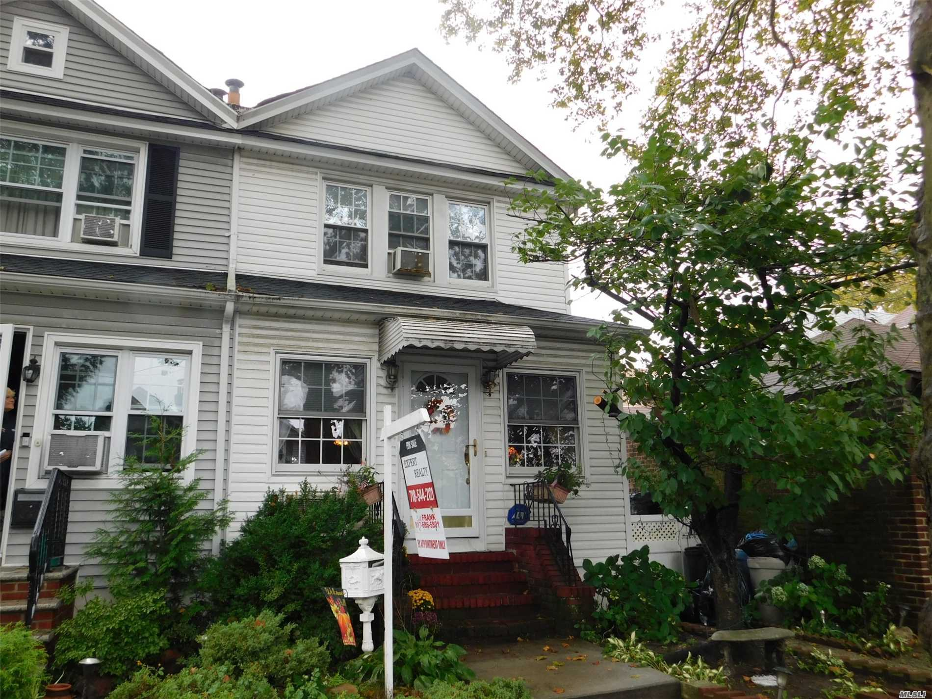 Lovely 3 Bedroom Colonial; With A A Long 16 X 40 Building Size, Off 71st/Continental Ave Nice Backyard , Finished Basement, Large Eat-In Kitchen Good Size Bedrooms . P.S.144