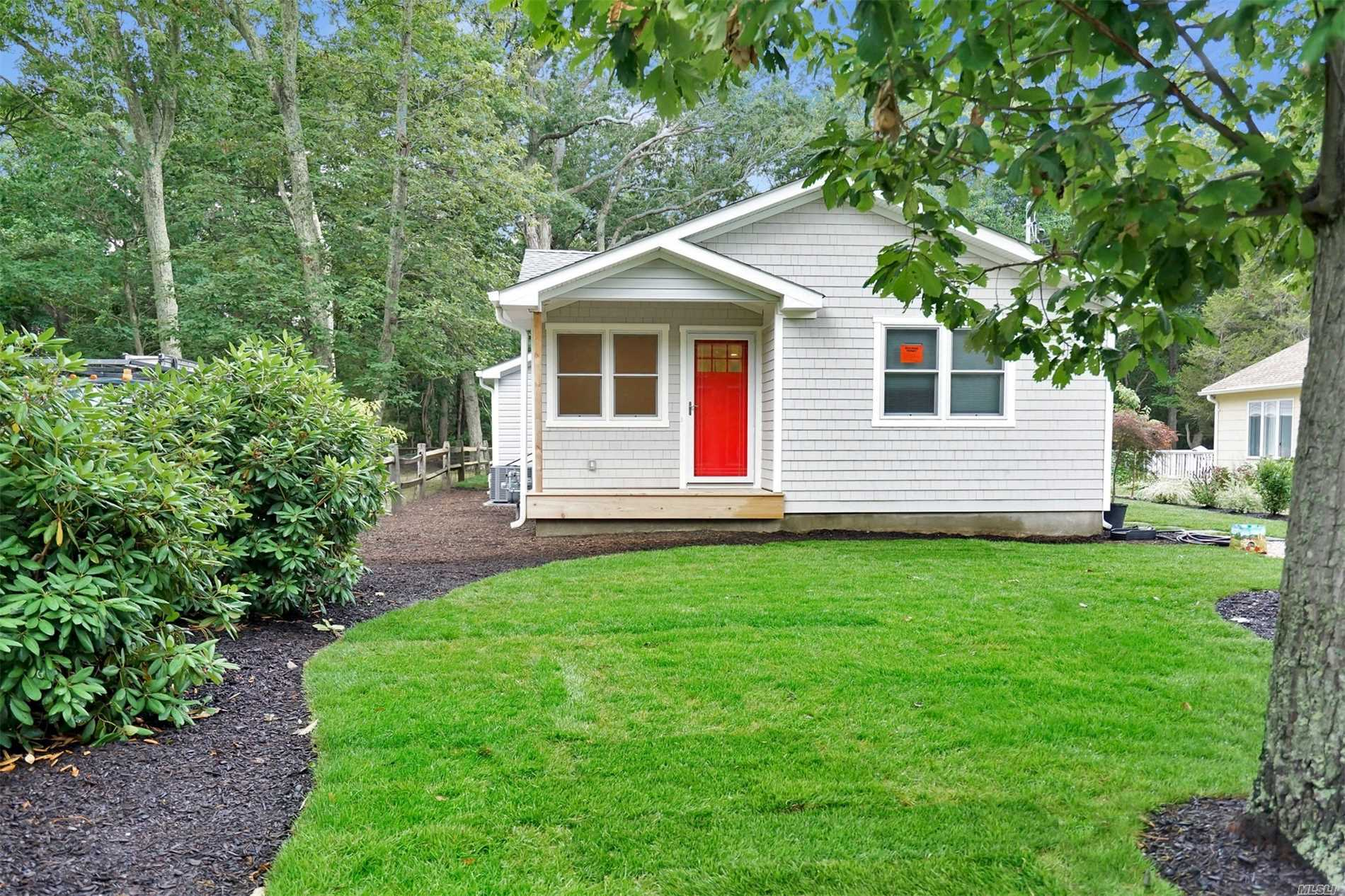 Completely Renovated 3 Bedroom Ranch With Beautiful Eat-In Kitchen And Open Floor Plan. All New Appliances, New Hardwood Floors, And New Baths. Just Steps From The Beach And Close To Shopping, Jitney And Love Lane. Enjoy All The North Fork Amenities From This Exquisite Year Round Rental.