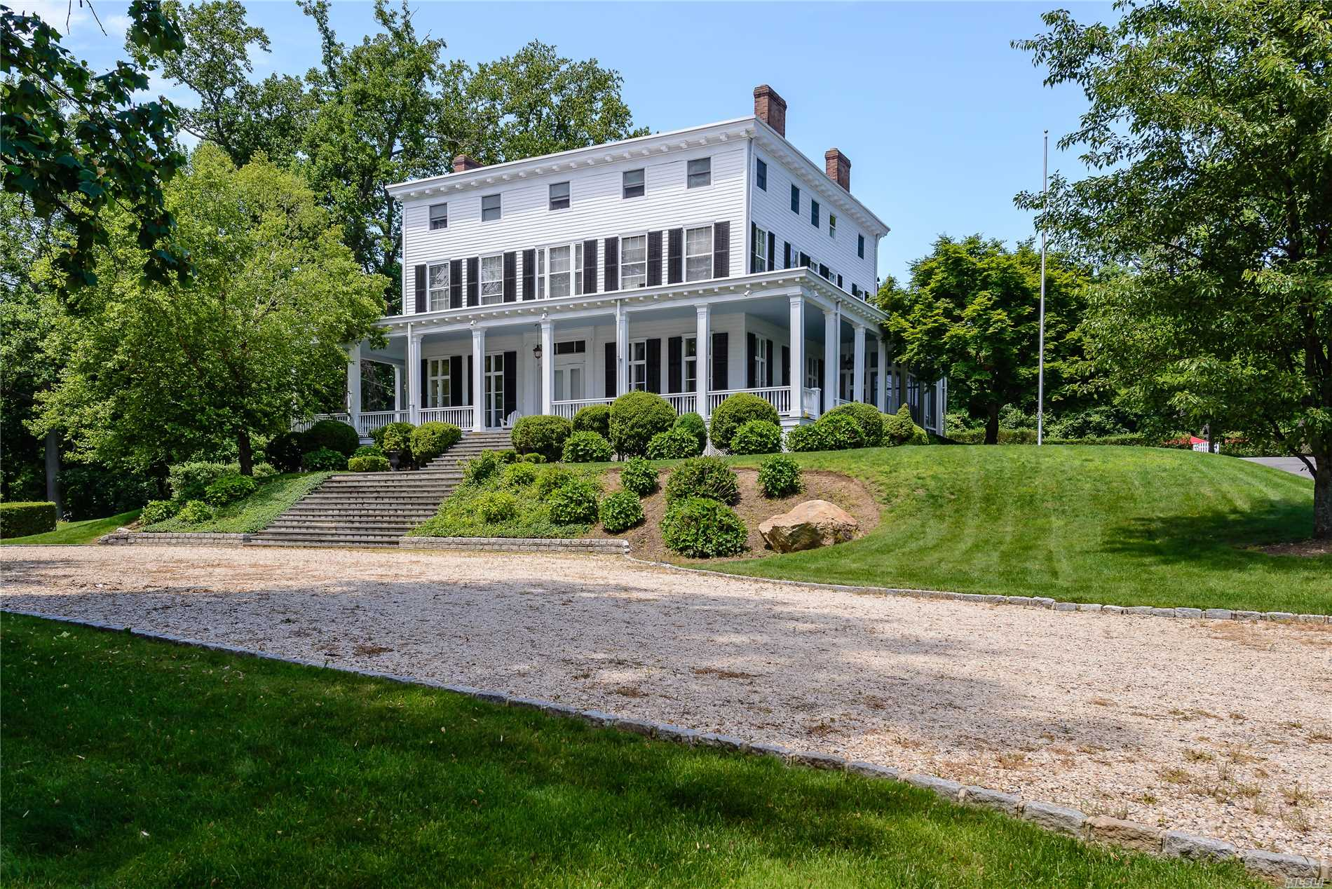 Magnificent Plantation Style Colonial With 200 ' Covered Porches, New Kitchen, Wood Floors, 12 Foot Ceilings And 7 Fireplaces. Ideal For Entertaining. New Pool And Patio By The Pool. Hot Tub.