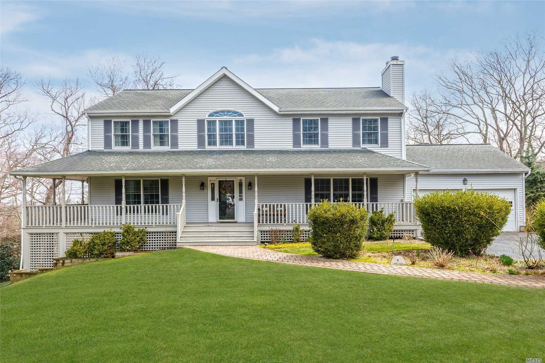Post Modern 4 Bedroom2.5 Bath Colonial In Quiet Cul De Sac. Wrap Around Porch. Home Offers A Spacious Layout. Large Master Suite & Bath. Family Rm W/Frplc. Walk Out Finished Basement. Winter Water Views.