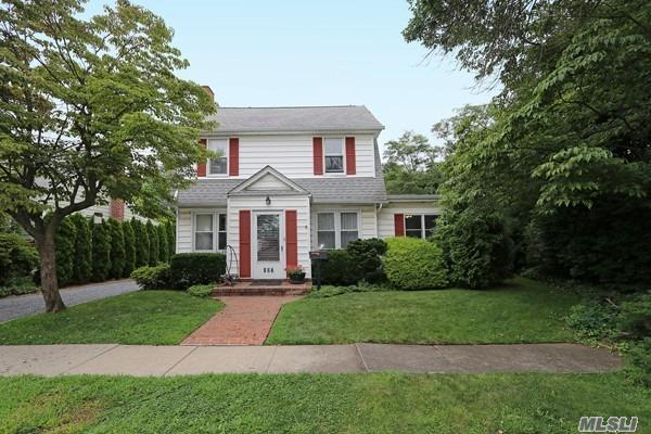 Spacious, Bright And Airy Colonial With Beautifully Park Like Landscaped Property. Includes Add'l 50X82 Attached Lot Giving A Total Property Depth In Excess Of 180Ft; 3 Car Garage, Ig Sprinklers System, Storage Shed, Small Fish Pond, And Vegetable Garden. The Skylit Interior Features 4Brs, 2Fbths, Finished Attic . Central Nassau Location Offers Close Proximity To Schools, Entertainment, Parks, Golf, Beaches, Major Roadways And Public Transportation W/35Min Railroad Commute To Manhattan.