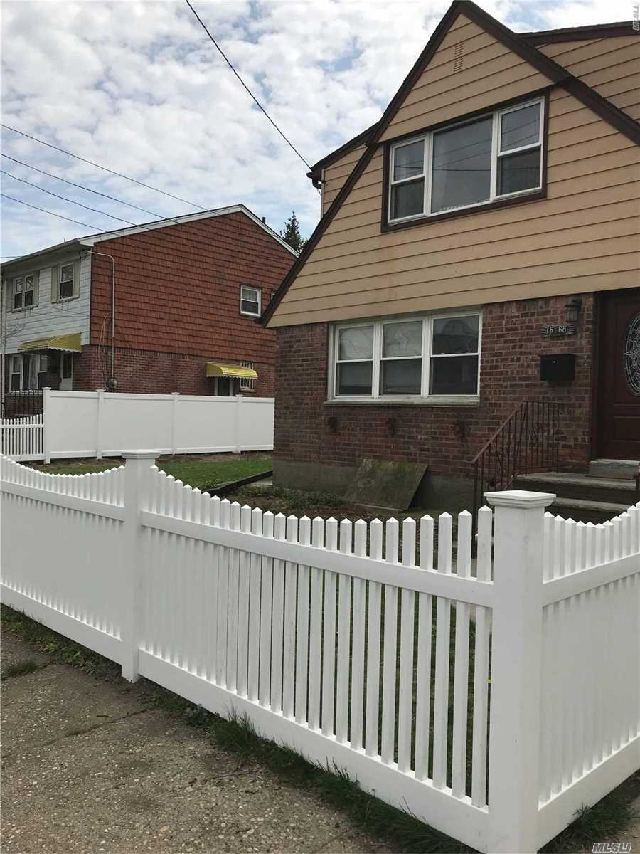 Freshly Painted 3 Bedroom Apartment For Rent In Whitestone. Featuring Living Room, Dining Room, New Eat In Kitchen With Granite Countertops, And 1 Newly Renovated Bathroom. Polished Hardwood Floors Throughout. Shared Use Of Yard. Near Bus And Express Bus. A Must See!