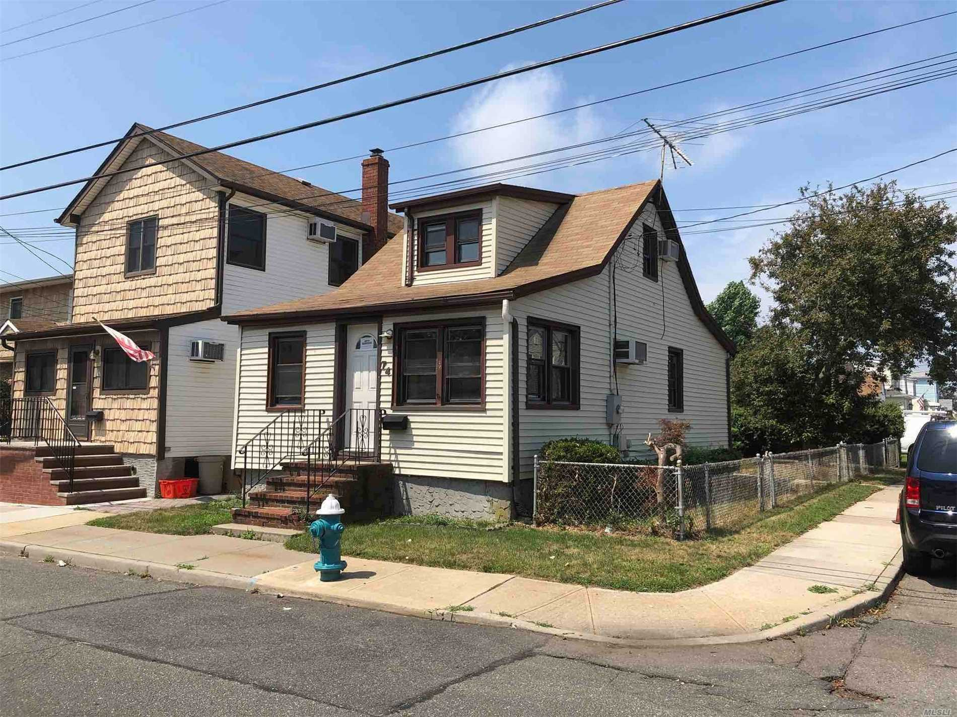 Cape Style Home. This Home Features 2 Bedrooms, 1 Full Bath. Centrally Located To All. Don't Miss This Opportunity!