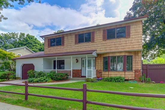 4 Bedroom Extended Center Hall Colonial Plus An Accessory Apartment, by permit ( renewal fee $275.00)  Lots Of Updates, Cul De Sac Location, Hardwood Floors, Alarm, Central Air, Fenced Yard, Garage, Northport-East Northport School, Convenient Location To Parkway, Train, Shopping, Beaches And Parks  True Taxes: $10,592.70 With Basic Star $9,787.38