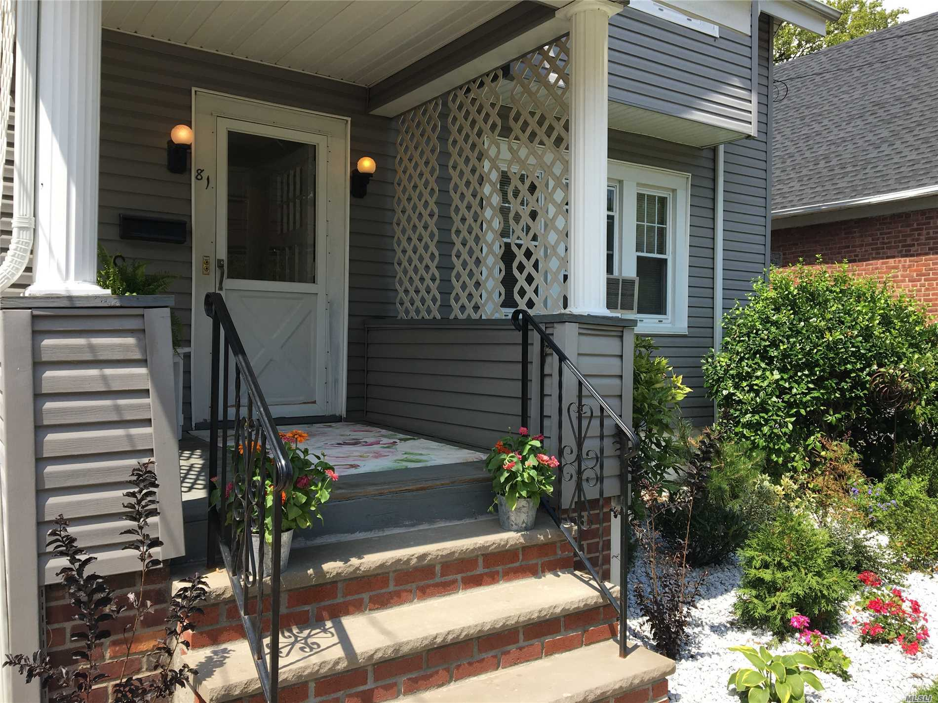 1st Floor Of Legal 2 Family, Updated 2Br Apartment With New Kitchen And Bath. Driveway, Garage , Yard All Included. Screened In Porch, New Floors, Freshly Painted. Basement With Laundry Room