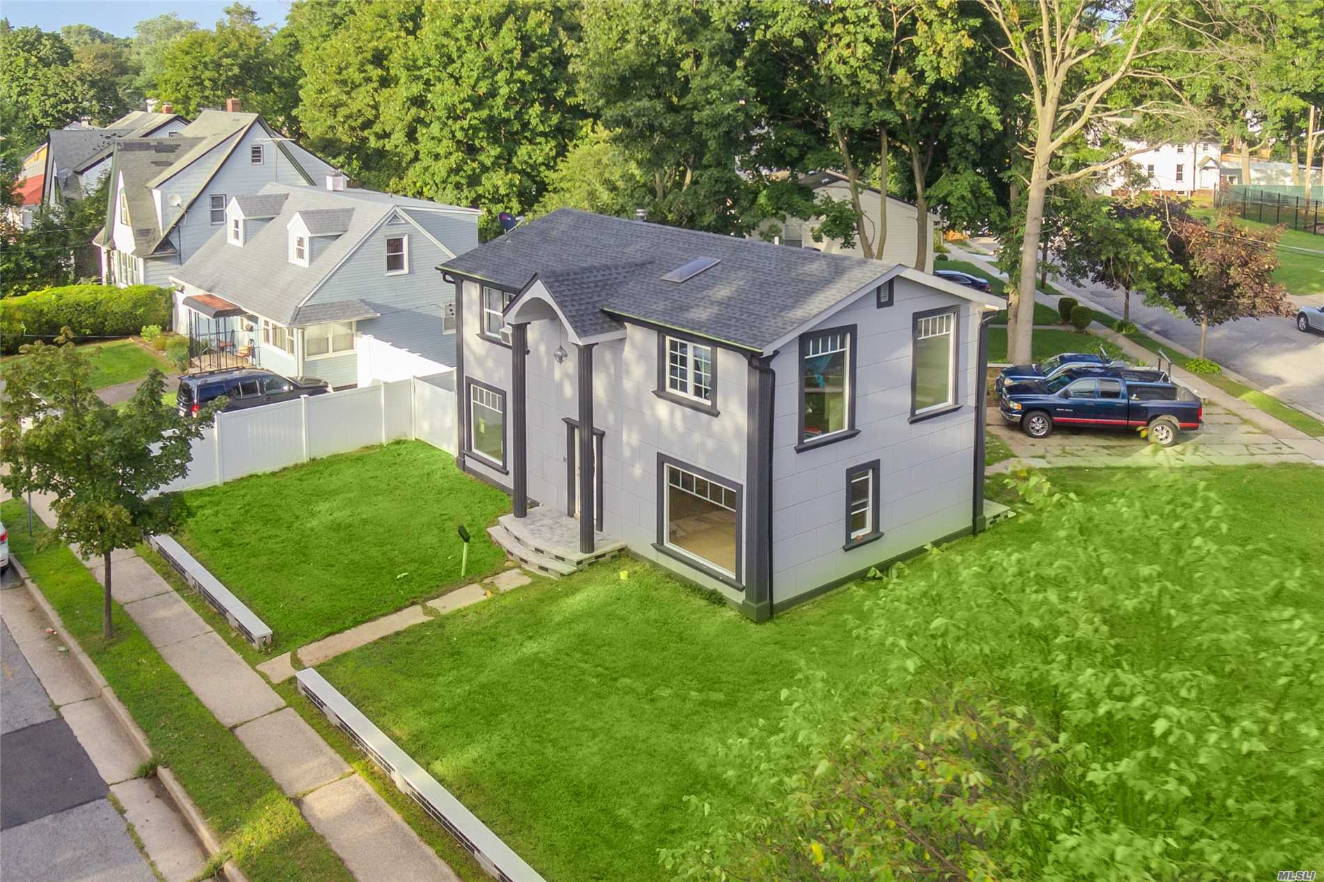 Magnificent Property Located In The Heart Of Hempstead Long Island Ny. Custom Built On A Corner Lot. Fully Designed From An Artist Point Of View. A Must View To Appreciate. 4 Bedrooms, 2 Baths, Full Finished Basement, Huge Backyard, 5 Car Private Driveway, And Hardwood Floors Throughout.