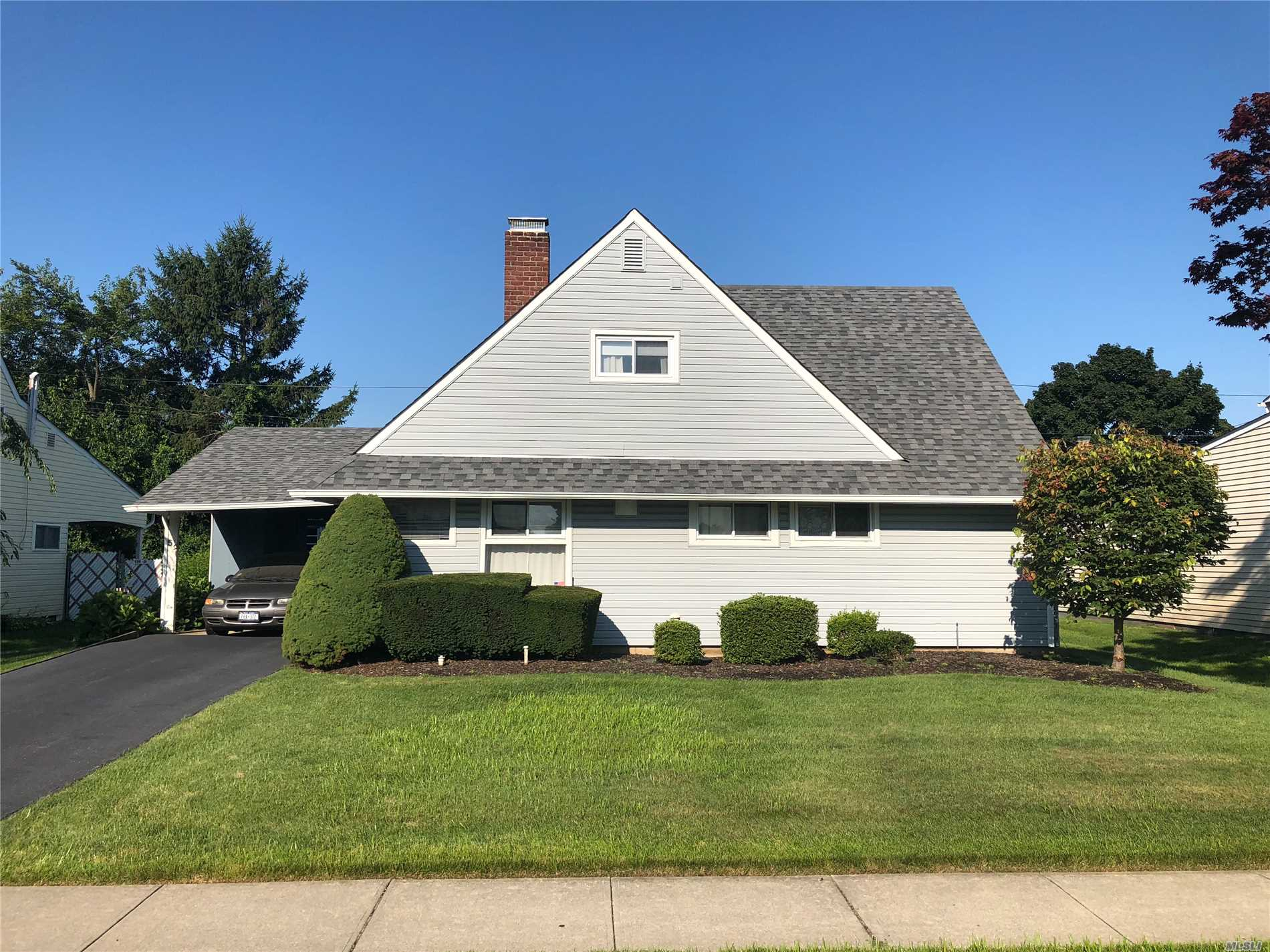 Great Mid Block Location For A Four Bedroom, 1.5 Bath Levitt Ranch In The A Section Of Hicksville. Updated 150 Amp Electric, Updated Boiler, Large Shed, Great Yard And Deck.