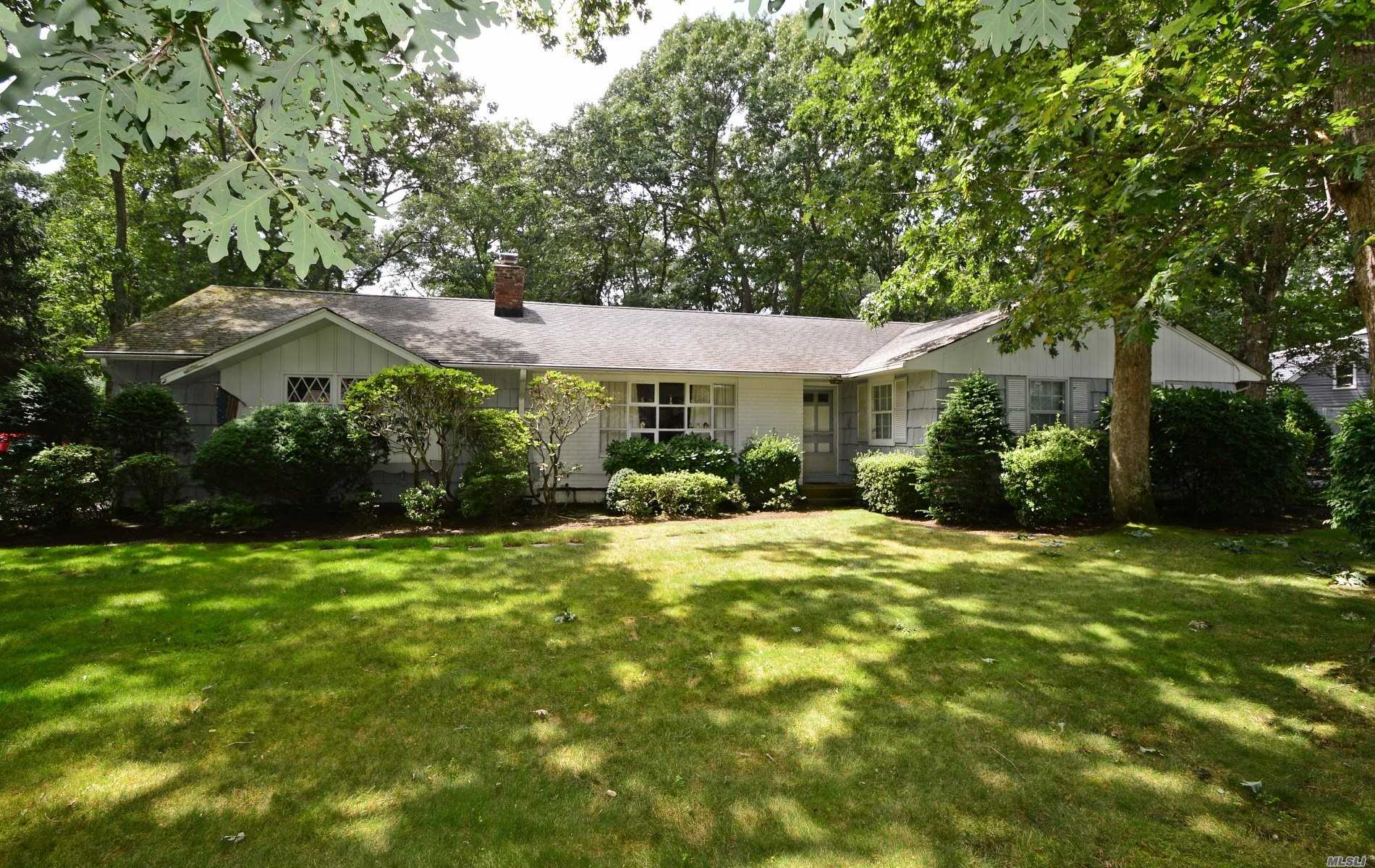 Looking To Make Something Your Very Own??? Look No Further...This Warm And Inviting Flowers Estate Wideline Ranch In Great River Is In Original Condition But Has Great Bones. Master Bedroom W/Private Bath And 2 Sets Of Double Closets. Hardwood Floors Beneath Carpeting. Fireplace In Living Room. Full Unfinished Basement. Just Shy 1/2 Acre. Sold In As Condition. A Must See!