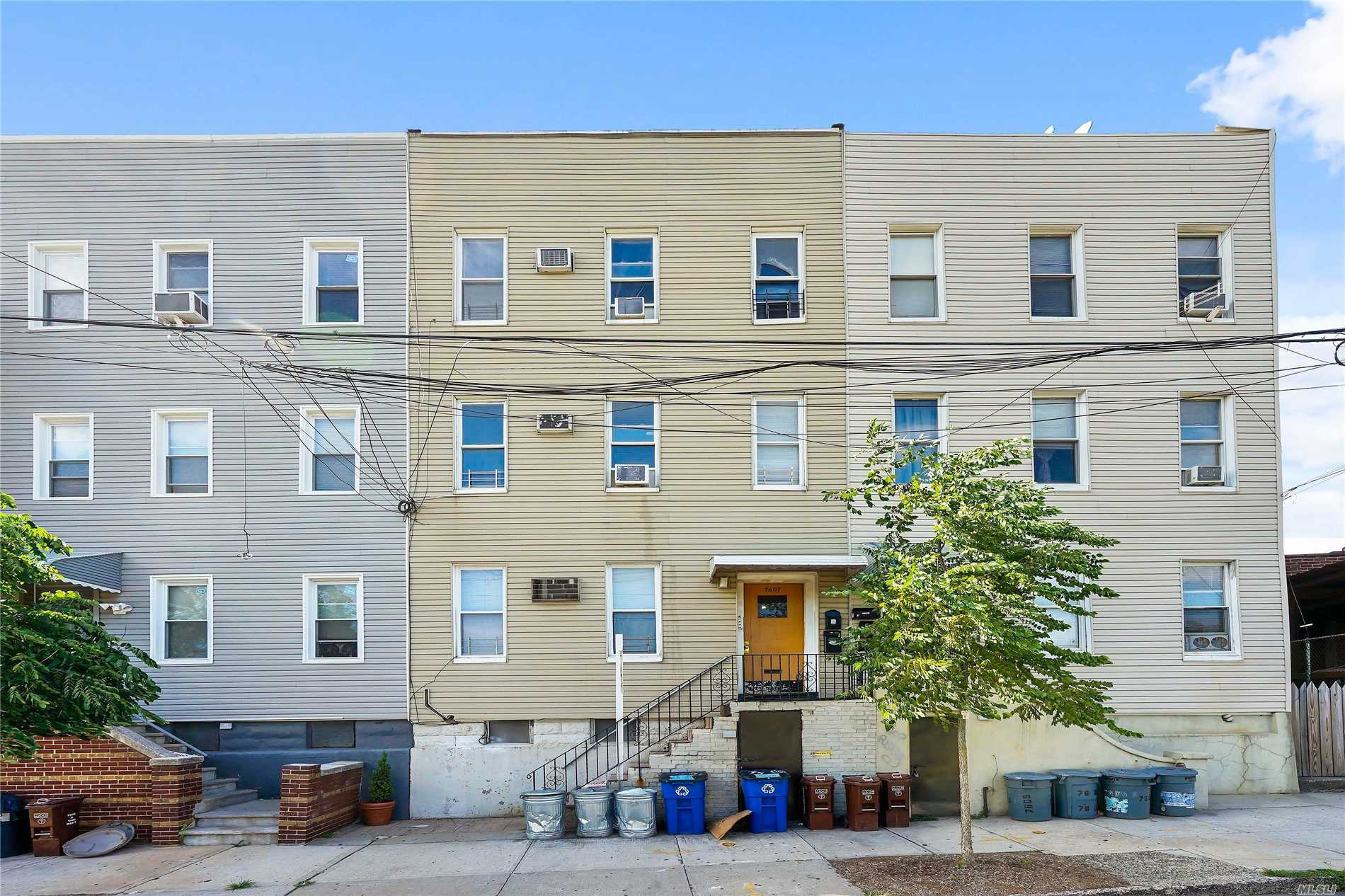 Three Story 3 Family Home, Near All. Border Of Middle Village And Glendale. Close To The Atlas Mall, Shopping On Metropolitan Ave, Forest Park, Etc. Easy Access To Buses On 80th Street. Great Owner User Or Investment. 1st Flr Vacant 3 Bedroom, 2nd Floor, 4 Bedrm, Lease 6/1/18 - 5/31/19 Paying $2, 185, 3rd Floor, 4 Bedrm, Lease 3/1/18 - 2/28/19 Paying $1, 930. Estimated Annual Expenses: Gas - $3, 500, Electric - $600, Property Insurance - $2265, Water/Sewer - $5, 400, Maint - $1740, Snow Rem $20/