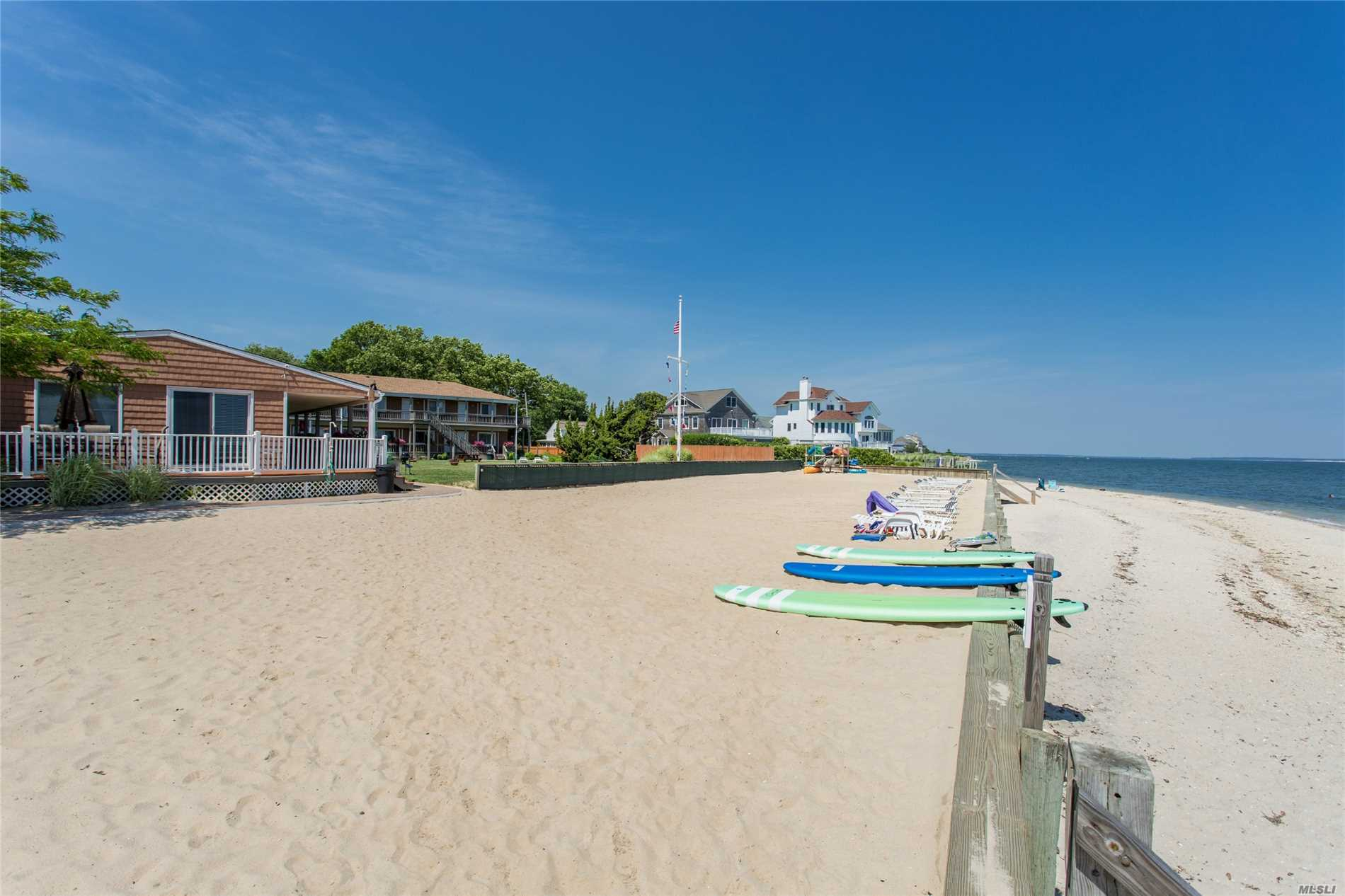 Fully Furnished One Bedroom Unit On The Beautiful Peconic Bay. 365 Feet Of Bulkheaded Bay Front With Sandy Beach. This Little Piece Of Paradise On The North Fork Can Be Rented Out On A Daily, Weekly Or One Month Basis. Great Spot For Vacation. Resort Style Living On The North Fork