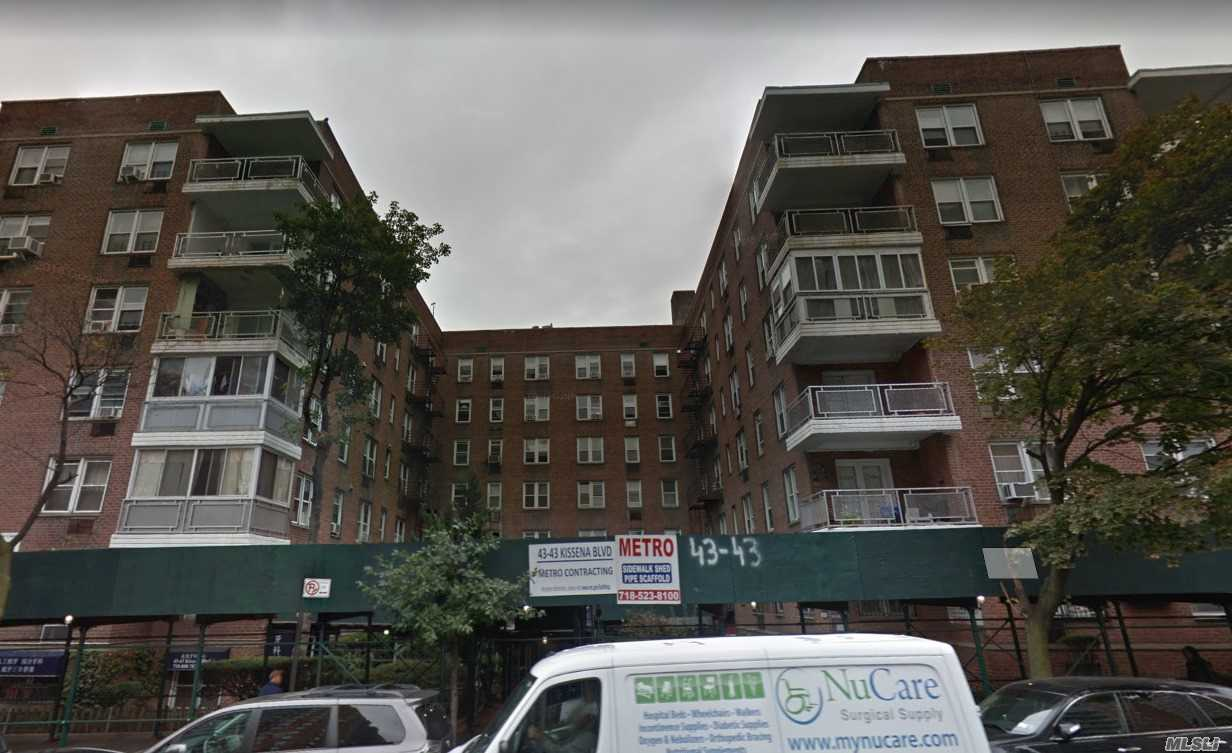 Walking Distance To 7 Train Subway. Very Convenience Location At The Heart Of Flushing. Large 2 Br And 2 Full Bath, Very Bright Apartment With Many Windows. Renovated. Move In Condition. Common Charge Included Heat Gas.
