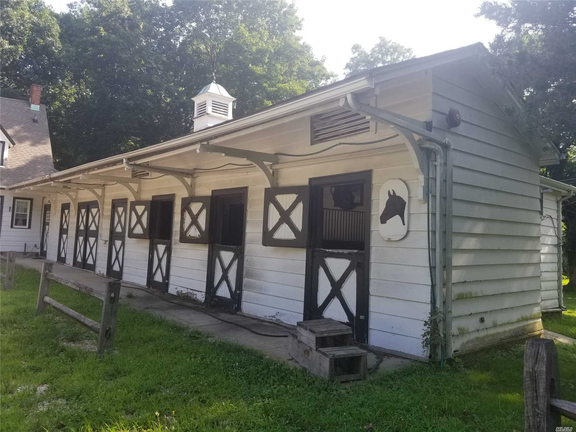 Unique Opportunity Inside 500+ Acre Muttontown Preserve - Barn With 5 Horse Stable And Use Of Paddock - No Smoking! $1, 750 Includes Heat And Electric.