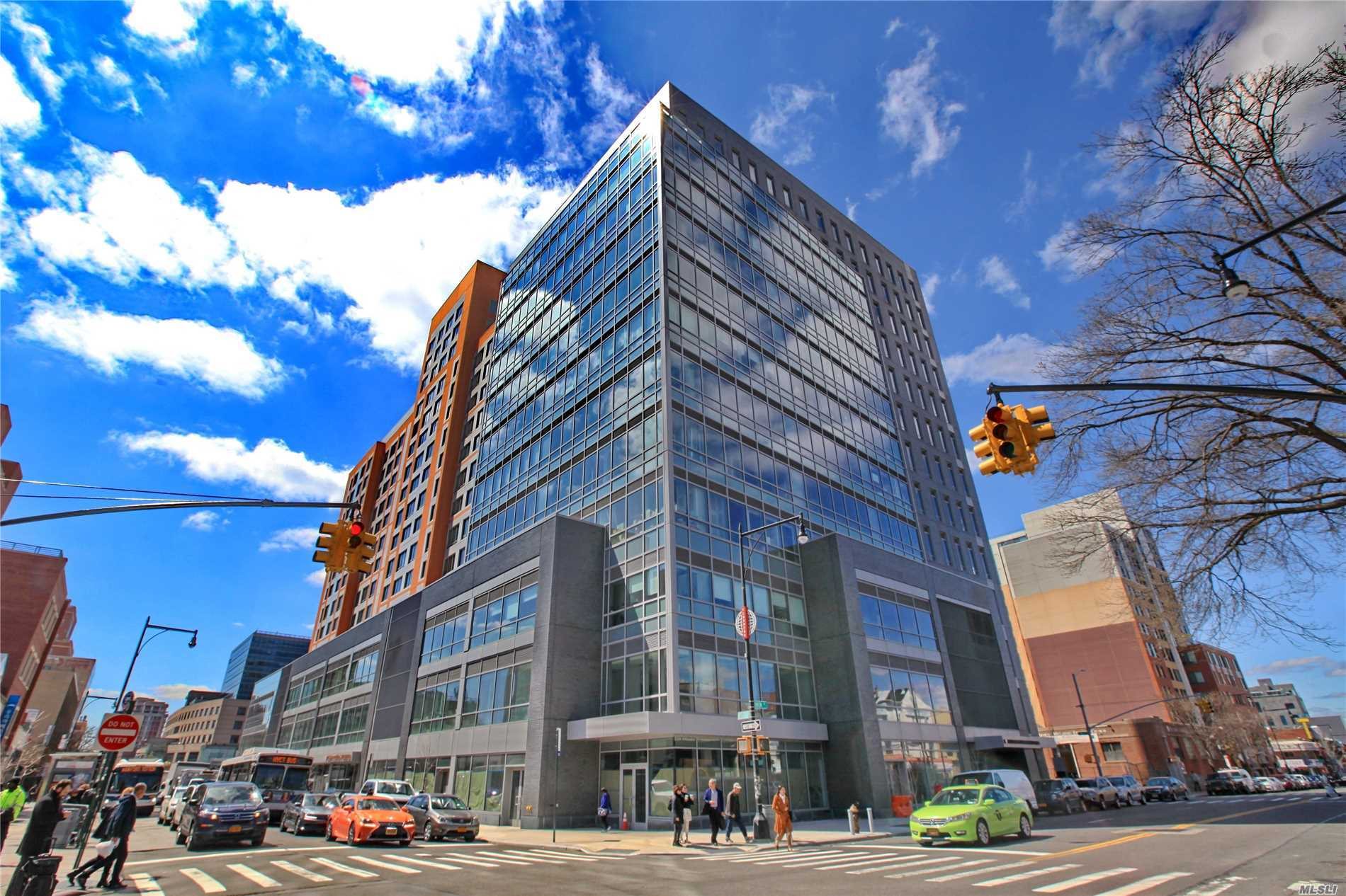 Leed Certified Type A Office Building New Construction, 126' Ceiling Height, 24 Yrs Tax Abatement, Solarban Solar Control Low-E Glass Curtain Wall For Maximum Energy Efficiency, Designated Male/Female Restrooms On Every Floor, 24-Hour Concierge, Underground Public Parking 600+ Spots, Bike Room, Steps Away From 7-Train Subway, Lirr, Buses. This Unit Is Designated For Medical Office Use & Will Be Delivered White Box Condition With Finished Walls, Carpet Flooring W/Lights & Outlets & Hvac.