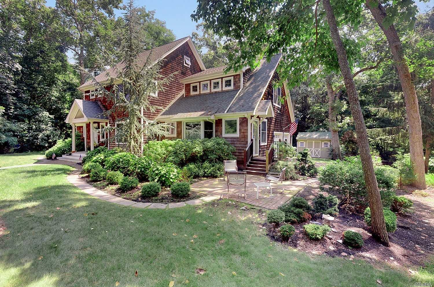 Gorgeous Nantucket Shingle Style Home On Fleets Neck. Walk To East Creek. Privacy, Room For Pool, Many Guests And The Entire Family! 4 Bedrooms, 3.5 Baths, Lr, Dr, Bonus Entertainment Room, Finished Basement. Hardwood Floors, Updated Kitchen, The List Goes On! Perfect Country Retreat Or Primary Home. Enjoy The North Fork Year Round!