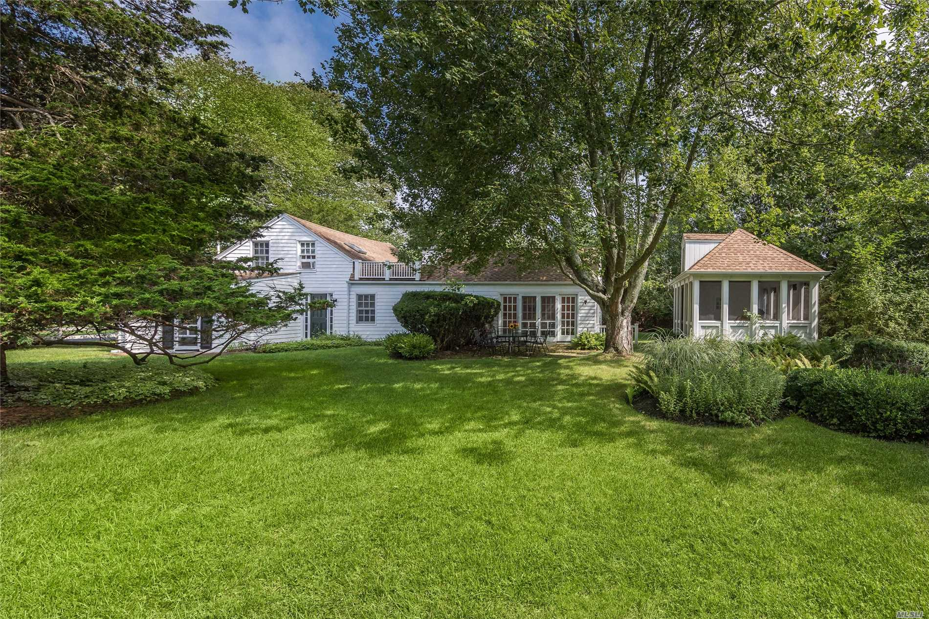 Charming Farmhouse In Westhampton. 3 Bedroom, 2 Bath Home Sited On 7/10 Of An Acre. Outdoor Pavilion Provides The Ultimate Setting For Warm Weather Dining Or Quiet Relaxation. This Easy Living Sized Property Offers Room For Pool. Conveniently Located Just Moments From Hamptons Beaches.