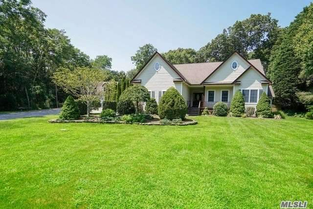 Exquisite 4 Bedroom, 3.5 Bath Country Retreat Featuring Lush Landscaping, Garage Space For 6 Cars, 2 Deeded Boat Slips, Room For Pool, And Backs To 86 Acres Of Preserved Land. Large Open Kitchen For Entertaining, Gas Fireplace, Full Finished Basement And Much More.