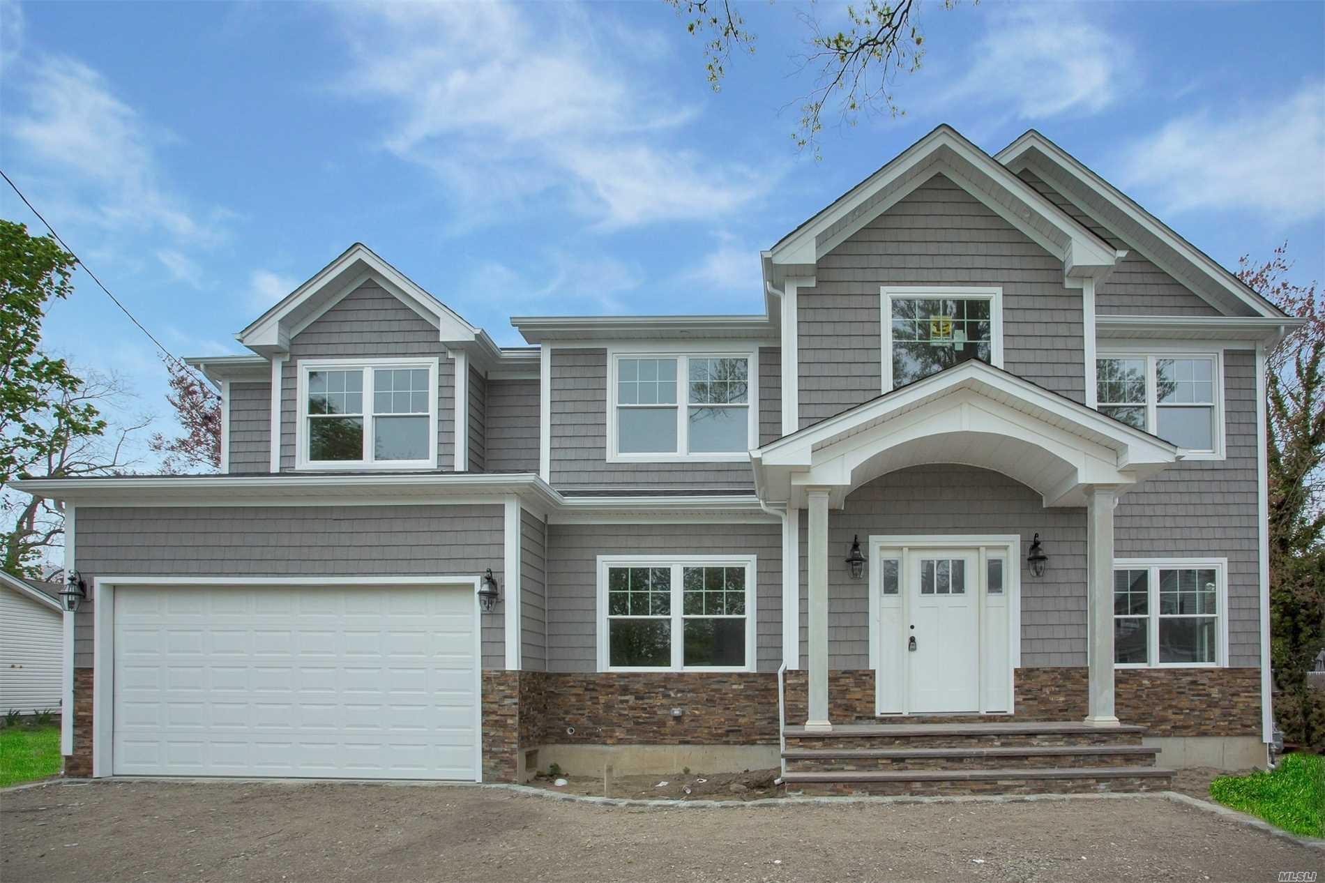 Priced To Sell! Ask About The Great Incentives Offered If In Contract By Sept. 30! Stunning New Construction Home! Mid-Blk Center Hall Colonial W/5 Bdrms & 3 Fbths! Open Flow Flr Plan W/Dbl Hgt Foyer Leading To Lvrm, Den W/Fpl, Fdrm & Gourmet Eik W/Gas & Granite Island, Bdrm & Fbth. Magnificent Master Ste W/Lux Fbth & Lg Closet &3 Bdrms &Fbth. Exquisite Finishes & Superior Craftsmanship! X Zone For Flood Insurance.