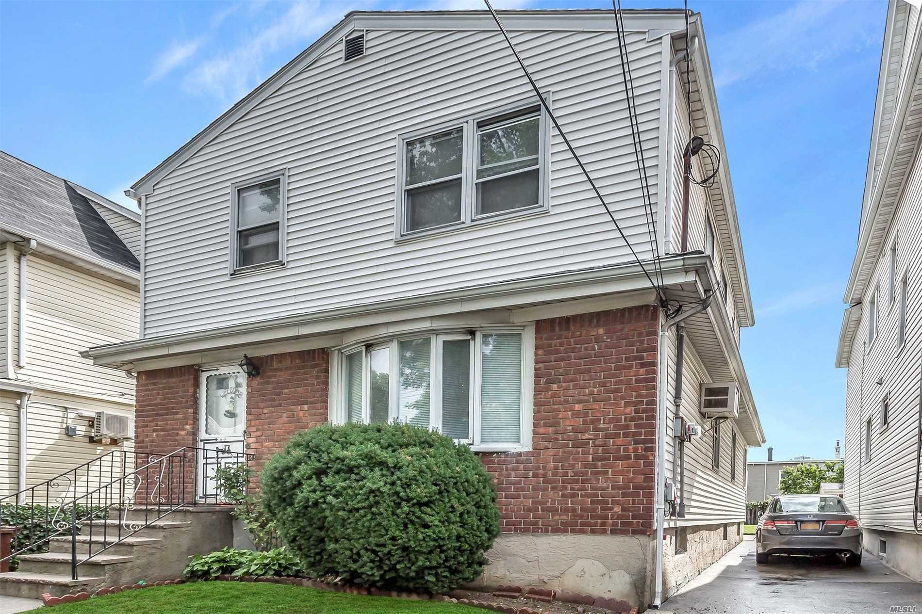 Duplex Each W/2 Br, Eik, Full Bth. Private Driveway! Fully Fenced Property W/ Lovely Yard, Across From Park/Playground. Full Basement