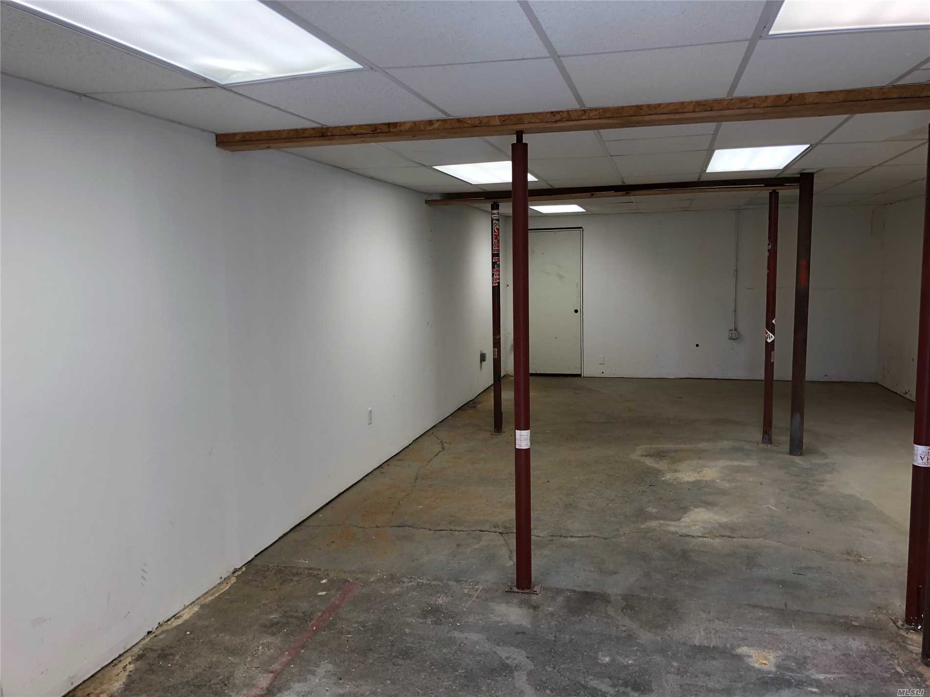 1000 Sq. Ft. Office Space........And 800 Sq. Ft. High Ceilings.....$1500.00 Rent Per Month..Central Air And Heat In The Office Space Half Bathroom Also.......Included Would Like For 3-5 Years