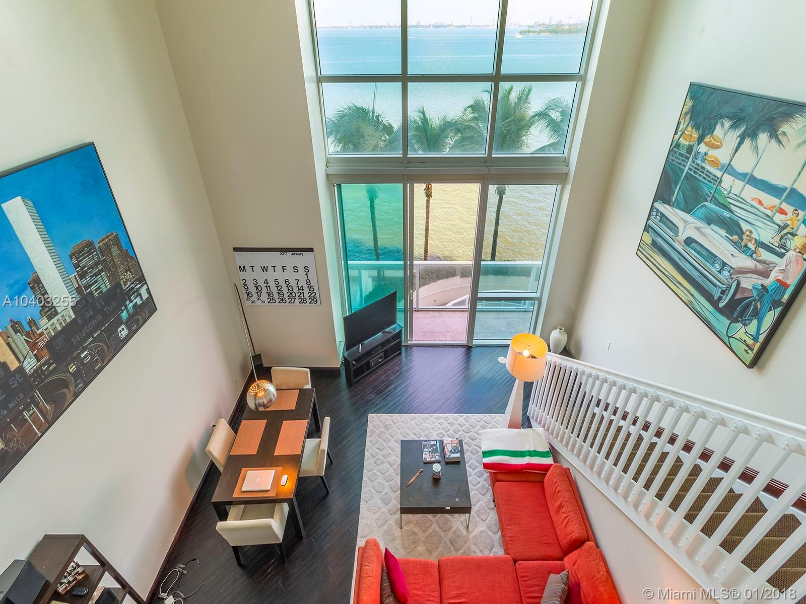 Two Story 1 Bedroom / 1.5 Bath Loft With Direct Bay Views At Onyx In Edgewater. Great Views From All Rooms With Tons Of Light All Day. Great Floorplan Including 20 Ceilings With The Kitchen And Large Living Room Downstairs And Master Bedroom Upstairs. 24 Hour Notice To Show.