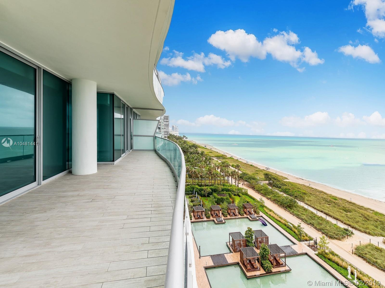 Stunning Miami Beach Direct Oceanfront Condo In Chateau Fendi, Fendi+Ógé¼Gäós Only Branded Condo In The World Featuring 300 Feet Of Oceanfront And Complete Flow Through Views In Each Unit. As A Decorator Ready Unit, This Space Can Be Complete To One+Ógé¼Gäós Own Preferences. Featuring 4, 487 Sf Of Interior Space And 6, 086 Sf Including The Balconies, As Well As 4 Bedrooms And 4.5 Bathrooms, This Spacious Unit Is Only One Of 58 In The Exclusive Boutique Building. Enjoy 5-Star Amenities Such As Luxury Attach+Â-¬, Concierge, Poolside Bar & Restaurant, Private Beach Club, Wine Vault, 24H Security And Valet, Library, Business Center, Theater, Spa & Gym. Located Walking Distance From Bal Harbour Shops.