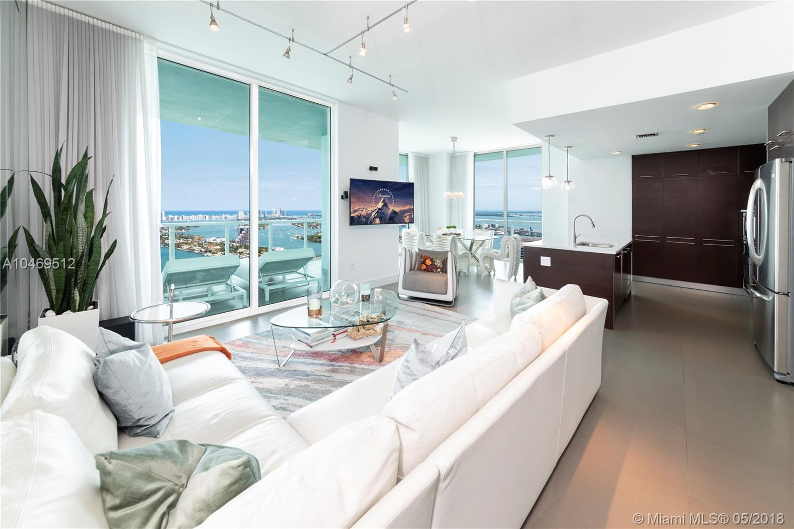 Amazing Panoramic Bay, Ocean And City Views Overlooking Biscayne Bay And Miami Beach From This Fully Furnished 3 Bedroom/3.5 Bathroom Penthouse. Quantum On The Bay Features A State Of The Art 7, 000 Sq. Ft. Gym, 2 Pools, A Resident'S Club-House, Movie Theater, Valet, And Much More. Located In The Heart Of Miami'S Arts & Entertainment District, Quantum Is Right Across The Street From Margaret Pace Park, Offering Tennis, Basketball, And Volleyball Courts, As Well As A Dog Park And More. Just Minutes From American Airlines Arena, Adrienne Arsht Center, Perez Art Museum And The Frost Science Museum.