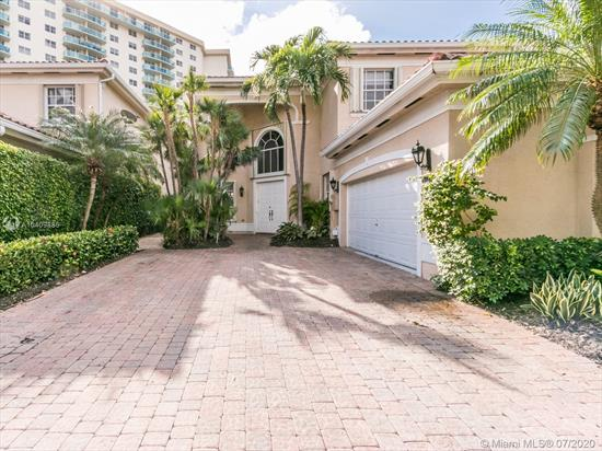 Beautiful Two-Story Estate In Guard Gated Community Of Golden Gate Estates. Prime Location Across From Beach Only Minutes To Aventura, Bal Harbour, Shopping, & Restaurants. This Pristine Elegant Home Features A Chef'S Kitchen, Formal Dinning Room, Spacious Living Room, Media Room/Den, Laundry Room, A Total Of 5 Bedrooms And 4.5 Bathrooms Including One Bedroom With En Suite Bath On Ground Floor, Large Master With Spa Tub, Double Vanity, Extended Shower, Ample Outdoor Pool Area & Covered Patio, Two Car Attached Garage, Over Sized Paver Driveway, Community Features Tennis Courts, Basketball, And Playground.