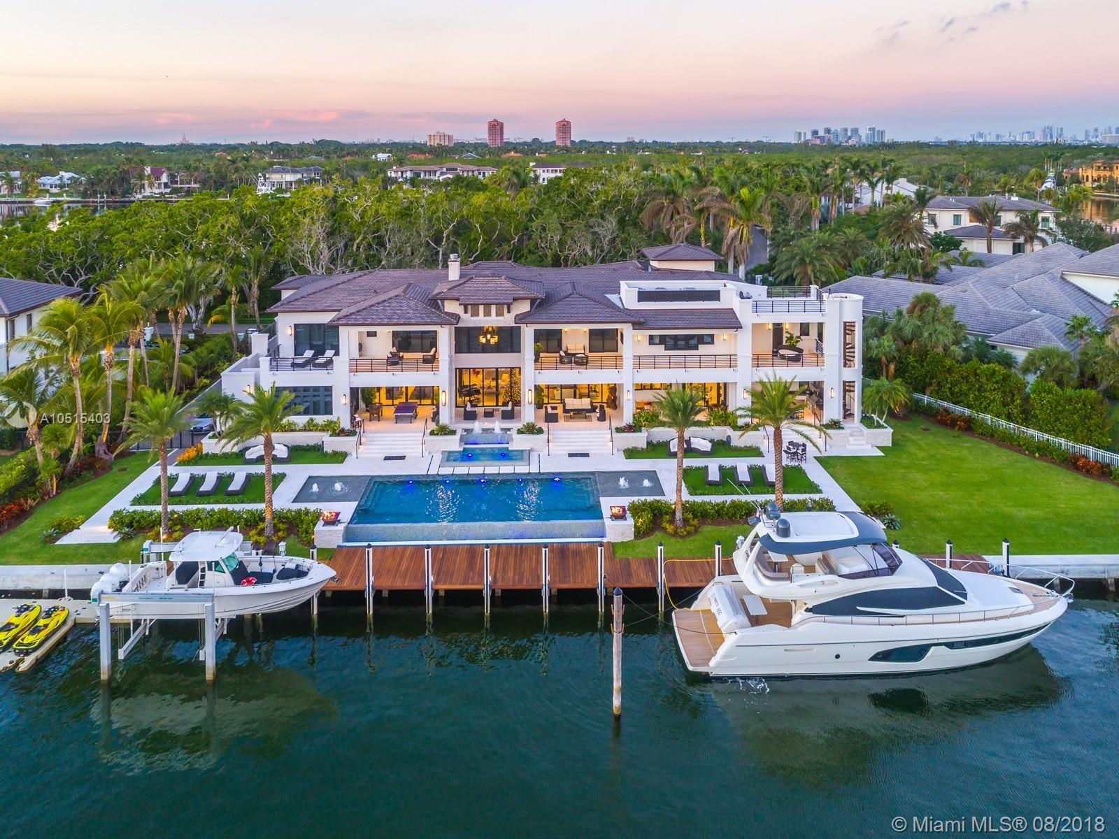 The Most Stunning Home In The Exclusive Guard-Gated Community Of Gables Estates. Premiere 255 Ft Of Water Frontage W/ 160 Ft Dock Situated On The Widest Part Of The Canal Just Two Houses Away From The Bay W/ Direct Ocean Access. Extraordinary 2017 Home W/ Fabulous Views Of Garden & Waterway Will Exceed Your Expectations Of A Unique Lifestyle Allowing Natural Light To Radiates Throughout Every Room. Features: Impressive Master Suite W/ Sitting Area Overlooking The Water & Enormous Marble Bathroom Spa Style W/ Outdoor Summer Shower, 14 Seats Estate Of The Art Theater Room W/ Optic Ceiling Lighting, Game Room W/ Wet Bar & Wine Cellar. Outdoor Entertainment Area W/ Summer Kitchen & Teppanaki Table, Covered Terraces, Rooftop Deck, And Infinity Edge<Br />Heated Pool W/ Fire Bowls & Fountains.