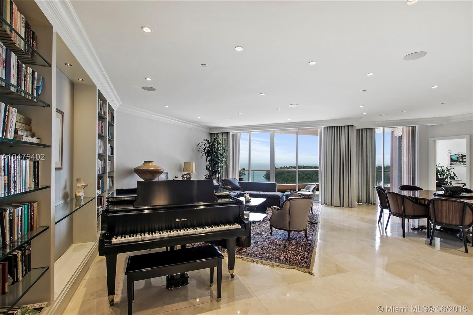 Marvel In The Spectacular View Of The Bay, Miami Beach, Key Biscayne, Downtown Miami And Coconut Grove From This Renovated 9Th Floor Condo. Enjoy The Exquisite Elegant Finishes Of Millwork And Details. Lounge In The Master Bedroom Featuring An Oversized Walk In Closet Plus A Night Bathroom. Entertain In The Den With A Bar Area And Plantation Shutters For Privacy. The Gables Club Boasts 24/7 Security With A Guard Gate, Valet, Concierge, Restaurant, Spa, Exercise Rooms, 4 Tennis Courts, 2 Pools And Privacy With Elevators Arriving In Each Unit. A Pleasure To Show!