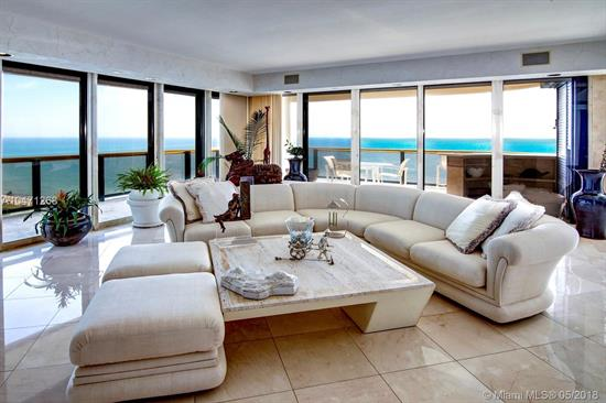 Accessed By Private Elevator This Highly Desirable 17Th Floor North East Corner Apartment Looks Over Picture Perfect Atlantic Ocean. The Residence Features 4, 980 Sq Ft, 2 Separate Bedroom Suites. 4.5 Baths, Den / Library, Sumptuous Living & Dining Rooms, Staff Room & Kitchen With Dining Alcove. Presidential In Size, Master Suite Incorporates A Bedroom, Sitting Area, Dressing Room, Separate Baths & Voluminous Closets For Her & Him. Uncommonly Grand Wrap Around Terraces Designed To Enjoy Breathtaking Direct Ocean Views. Apartment Has Endless Potential. Full Service Building Offers Exquisite Beachfront Lifestyle With Short Walking Distance To Bal Harbour Shops, Restaurants & Houses Of Worship. Amenities Include; Private Restaurant, Concierge, Valet, Spa, Fitness, Tennis, Beach & Pool Service.
