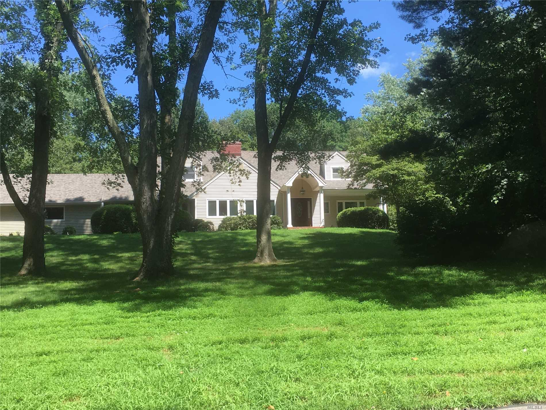 In The Village Of Upper Brookville This 10 Rm, 5 Bedroom Set In A Private Location. Has Been Updated And Ready To Rent . Updates Include Roof, Siding !Finish Wood Floors, Bathrooms, New Pool Liner., Pavers On The Walkway