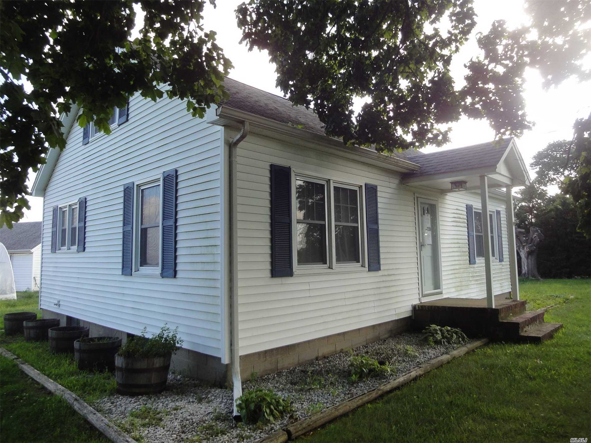 Located In The Agricultural Protection Zone, This 3 Br-1Bath Cape Is Situated On A True Acre In The Rural Calverton Setting. With Excellent Roadside Visibility, This Home Presents A Great Opportunity For The Micro-Farmer, Plant Lover Or Home Based Professional.