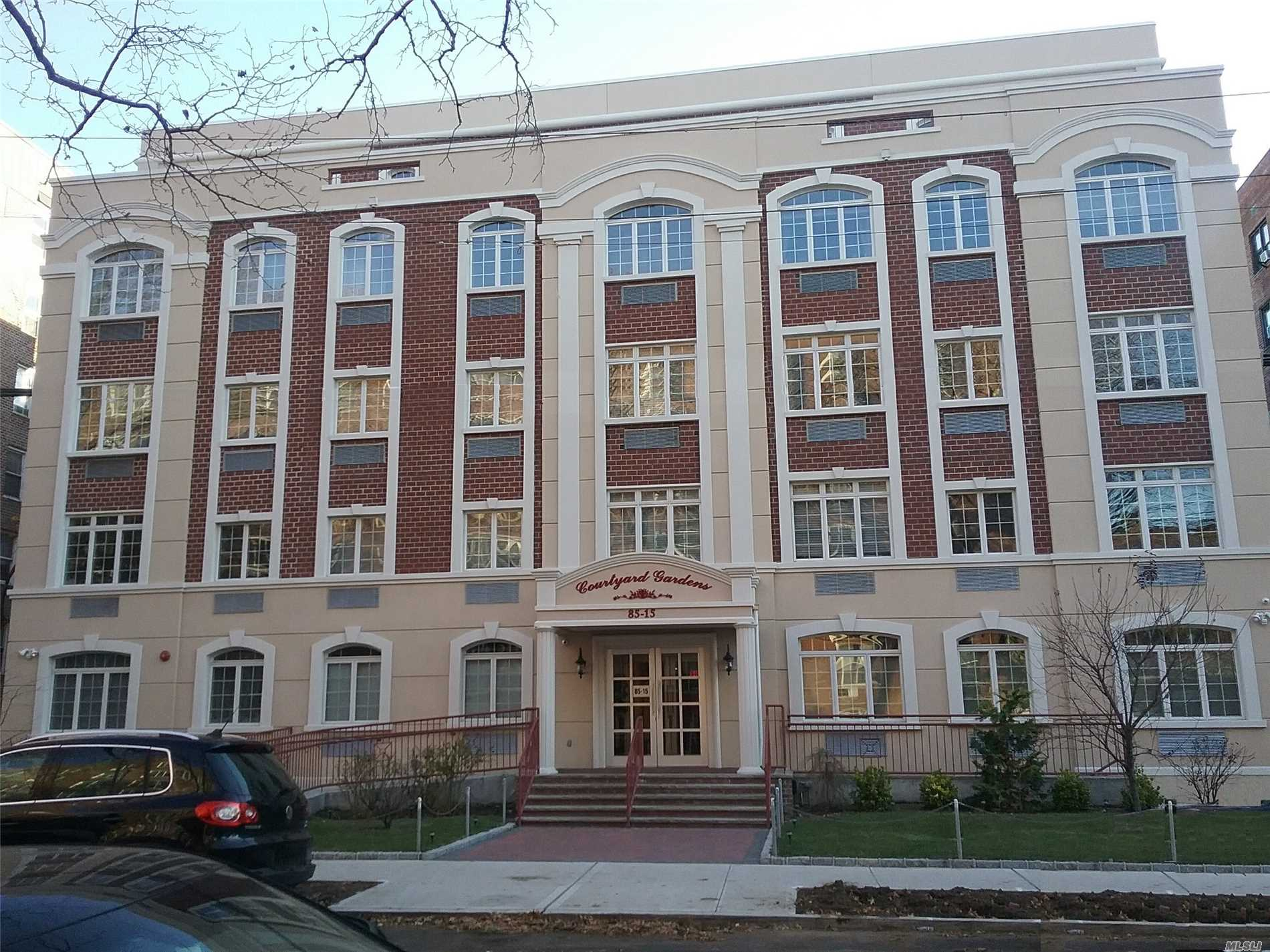 Beautiful New Building. Large Living Room/Dining Room, 1 Bedroom, 1 Full Bath, Efficiency Kitchen With Stainless Steel Appliances And Granite Counters. Balcony Off Living Room. Storage Unit And Outdoor Parking Space Included.Enclosed Courtyard, Laundry And Gym In Building. Close To M, J, Z Trains, Short Bus Trip To Lirr Or E Train. One Small Pet Under 15 Lbs. No Smoking.