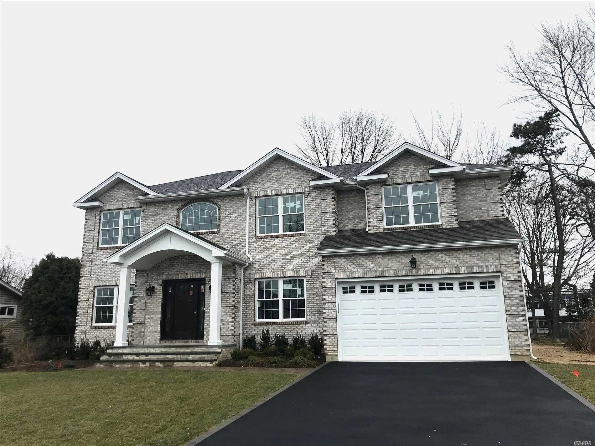Jericho School District! New Construction In West Birchwood! This Five Bedroom Home Has A Guest Suite With Full Bath On First Floor, Chefs Eik, Family Room With Gas Fireplace & Large Entertaining Rooms. Second Level Has The Large Master Bedroom With En Suite Bath, Another 2 Bedrooms With Jack N Jill Bath, Bedroom, Bath & Laundry! Gas Heating & Cooking, Cac, Igs. Must See!! Photos Are Of A Model Home.