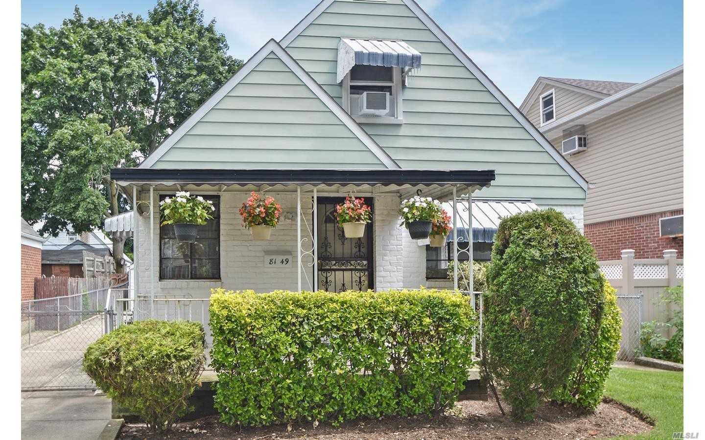 Beautiful Cape In Floral Park Queens On A Tree Lined Street Featuring 3 Bedrooms, 1 Full Bath, Finished Basement With Den/Office, Utility Room With Laundry, Long Private Driveway With A 1.5 Car Garage While Still Giving You Ample Back Yard Space For The Family. ** Gas Steam Heating System Is Only 2Yr Old**