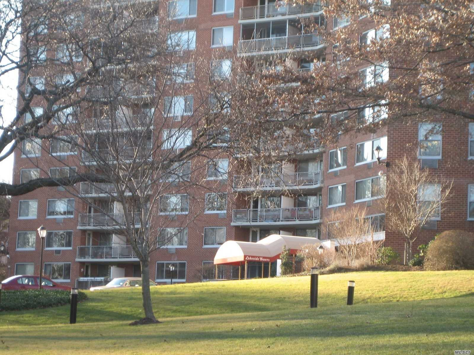Deluxe Co-Op Building, Large One Bedroom, Entry Foyer, Living Room/Dining Room, Renovated Kitchen, Renovated Full Bath, Terrace,  24Hr Doorman. Pool, Gym, Maintenence Includes All Utilities And Real Estate Tax, Close To Long Island Rail Road, City/Express Buses, Shops Oakland Lake